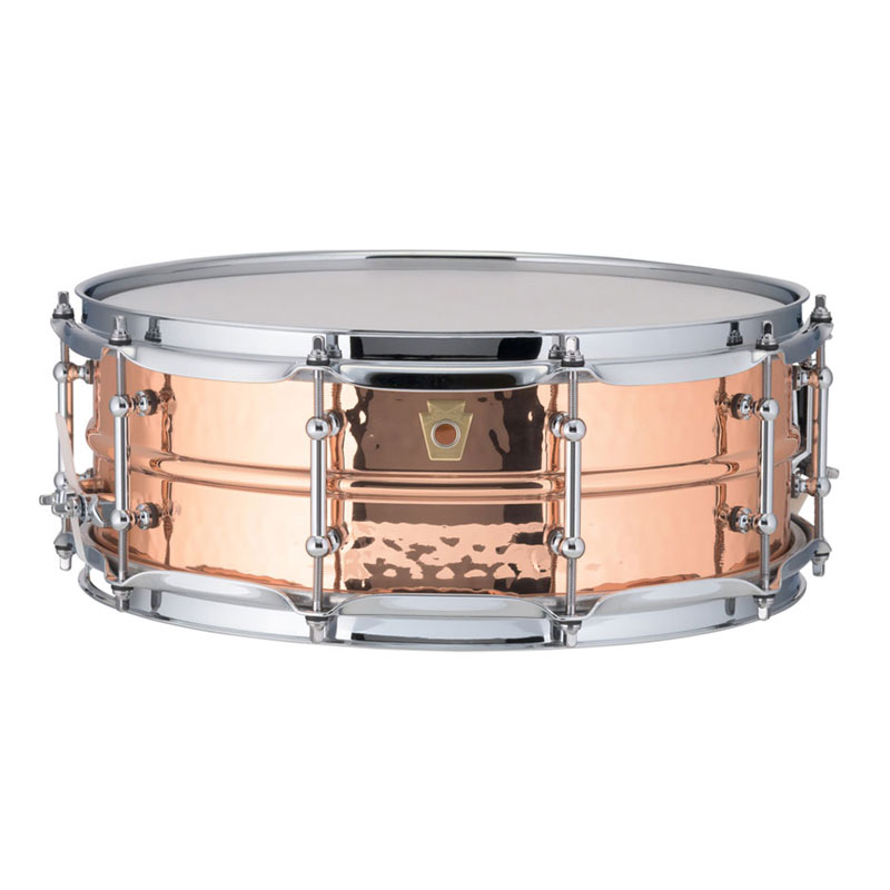 "Ludwig 5"" x 14"" Hammered Copper Phonic Snare Drum with Tube Lugs"