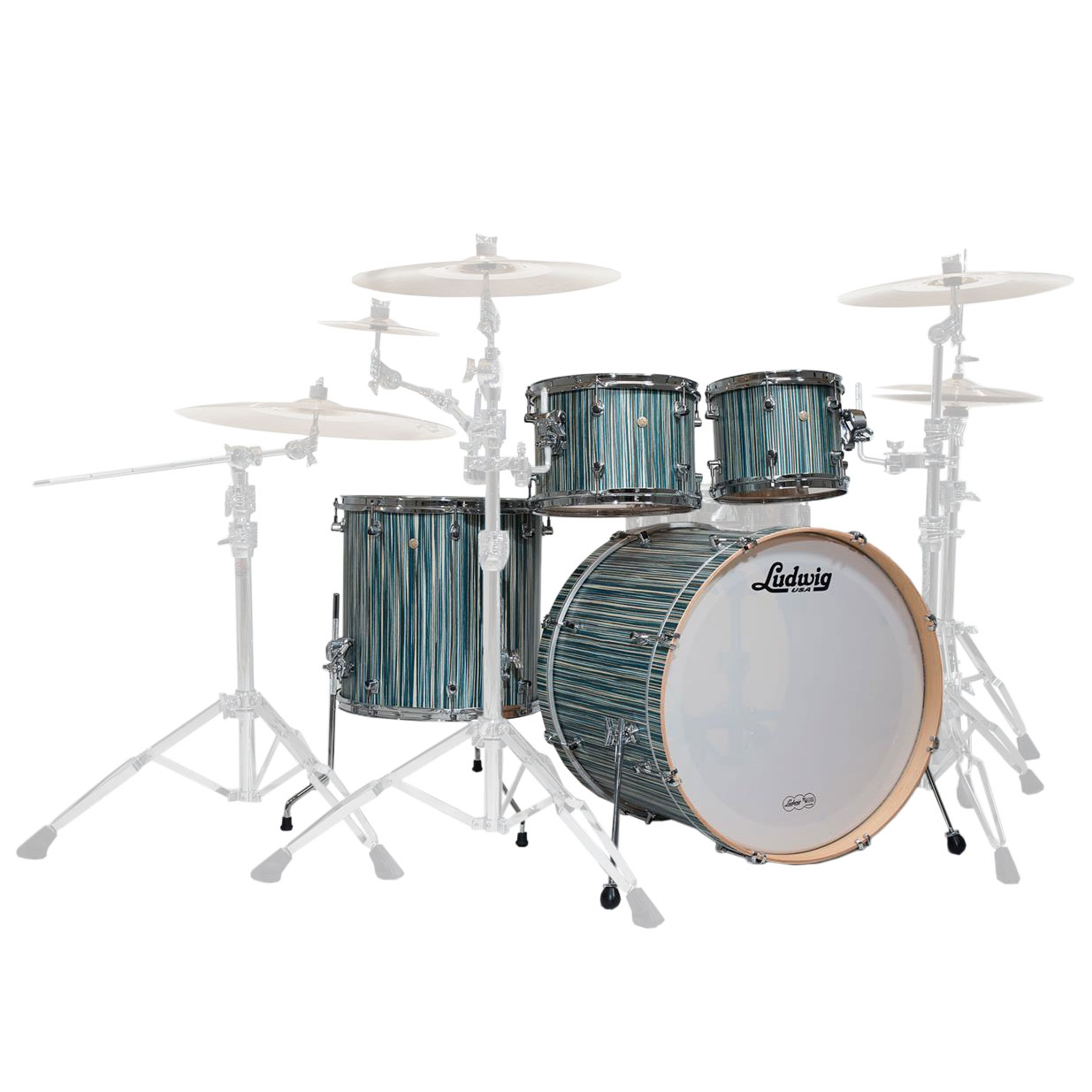 """Ludwig Signet 4-Piece Drum Set Shell Pack (22"""" Bass, 10/12/16"""" Toms)"""
