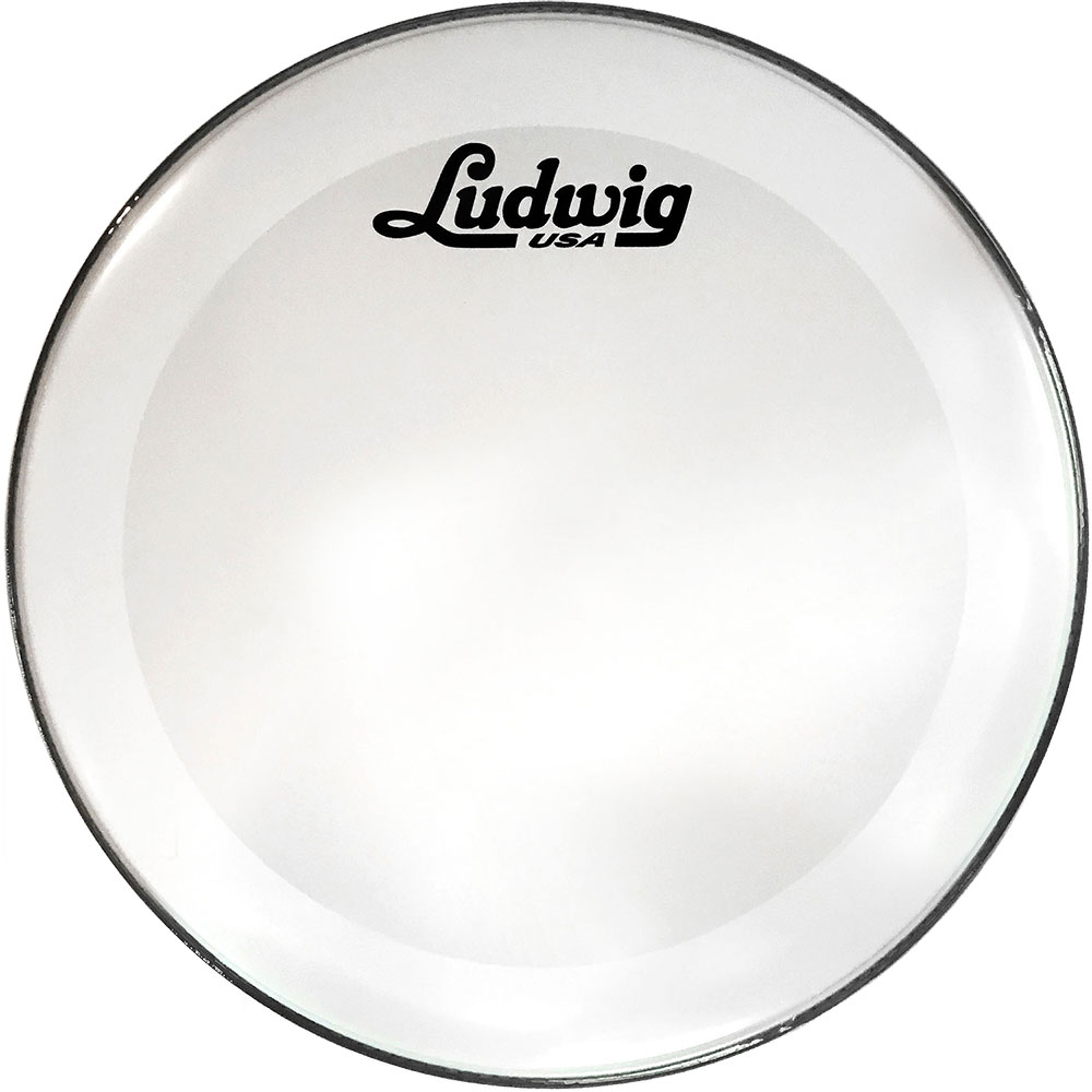 ludwig 20 powerstroke 3 smooth white resonant bass drum head with script logo lw1220p3swv. Black Bedroom Furniture Sets. Home Design Ideas