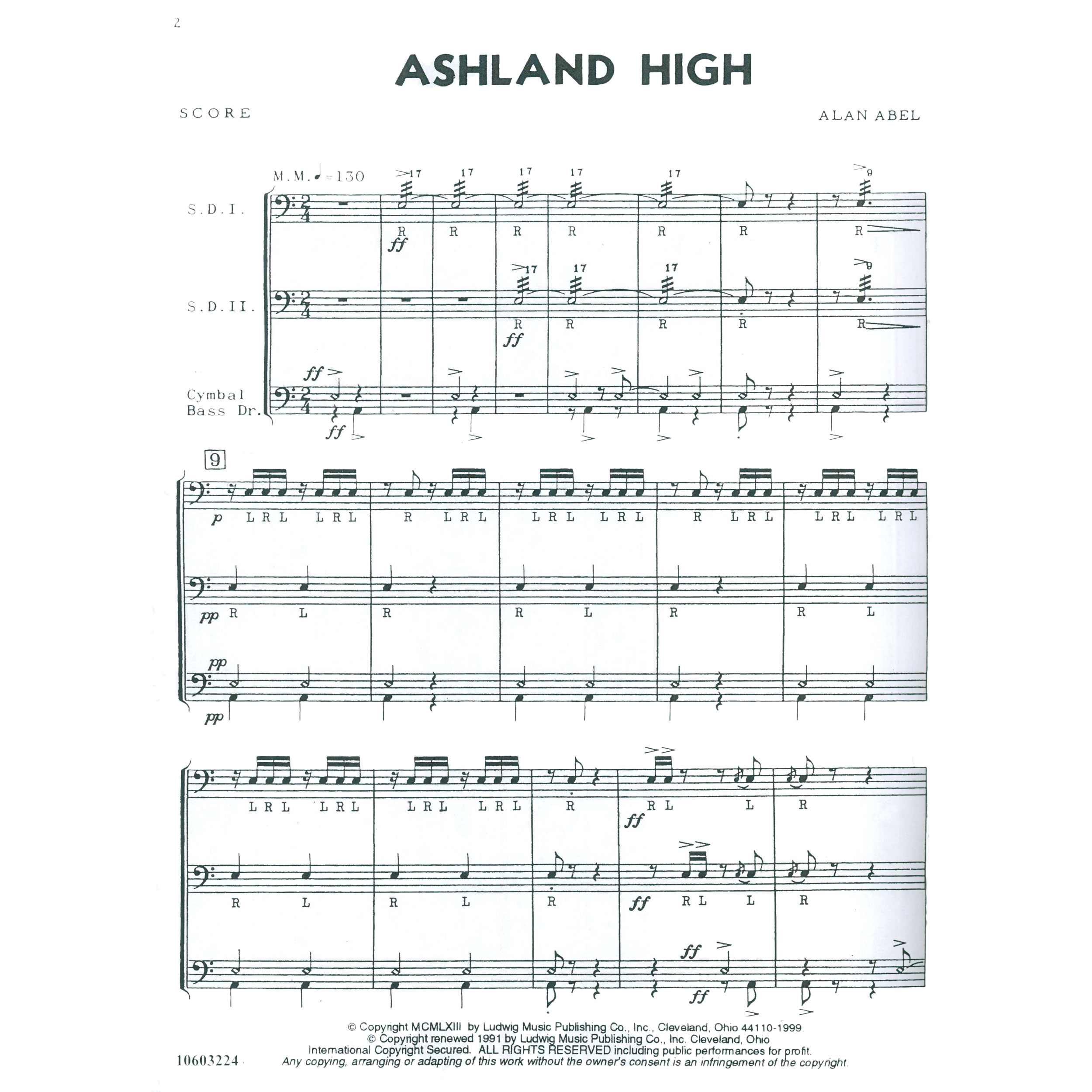 Ashland High by Alan Abel | Cadence (Ludwig Masters Music)
