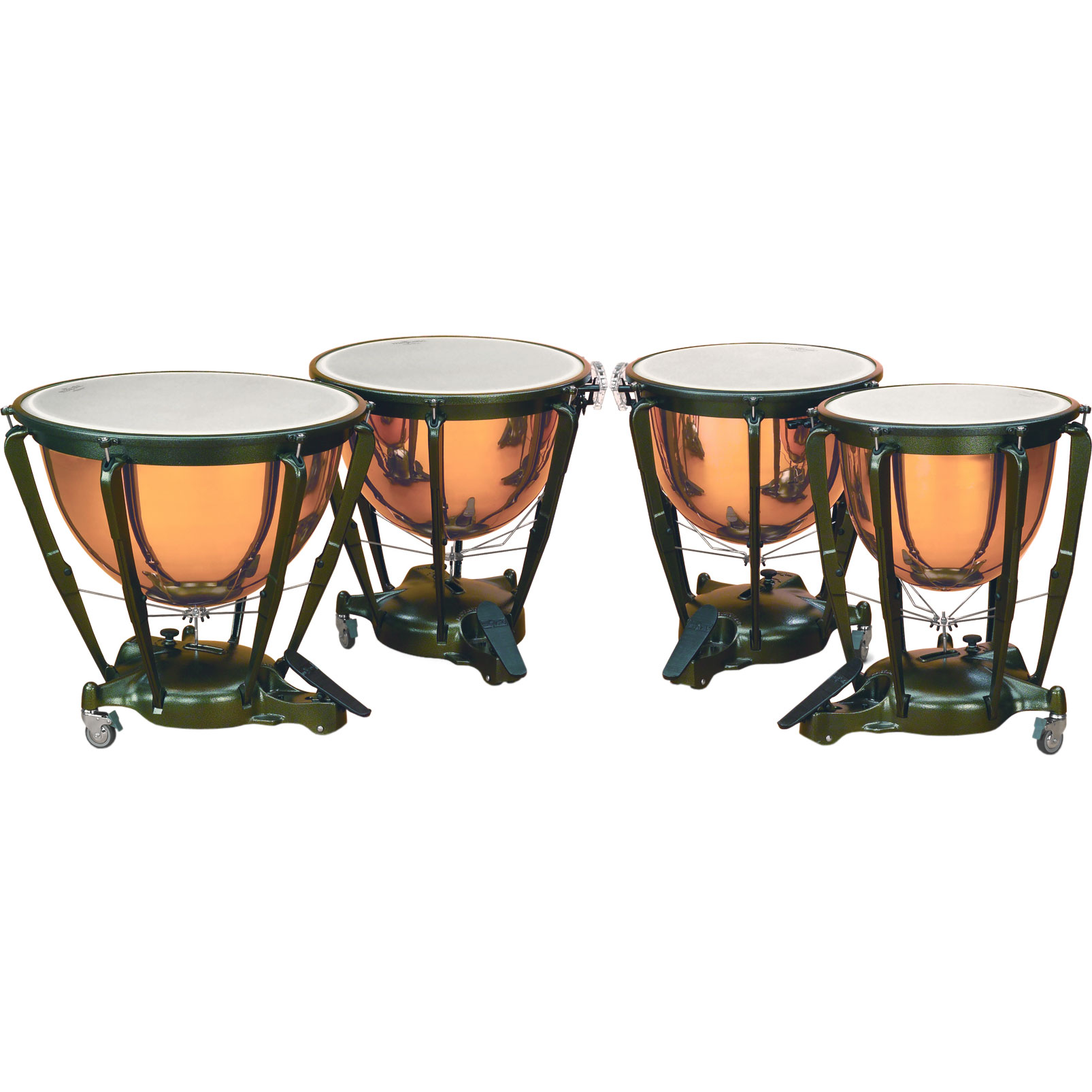 "Majestic 23/26/29/32"" Symphonic Timpani Set with Polished Copper Bowls"