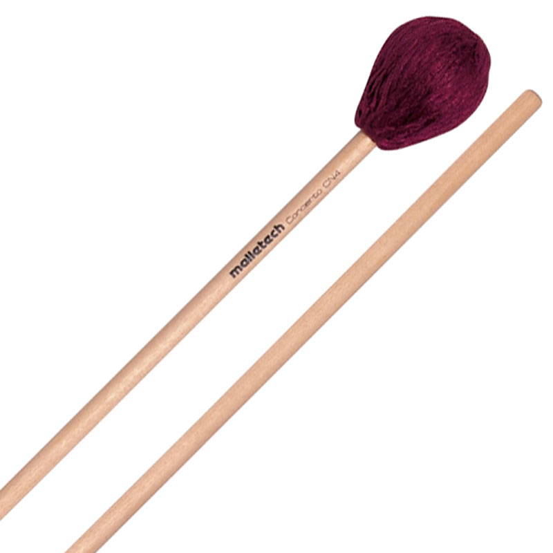 Malletech Concerto Series Soft Marimba Mallets with Rattan Handles