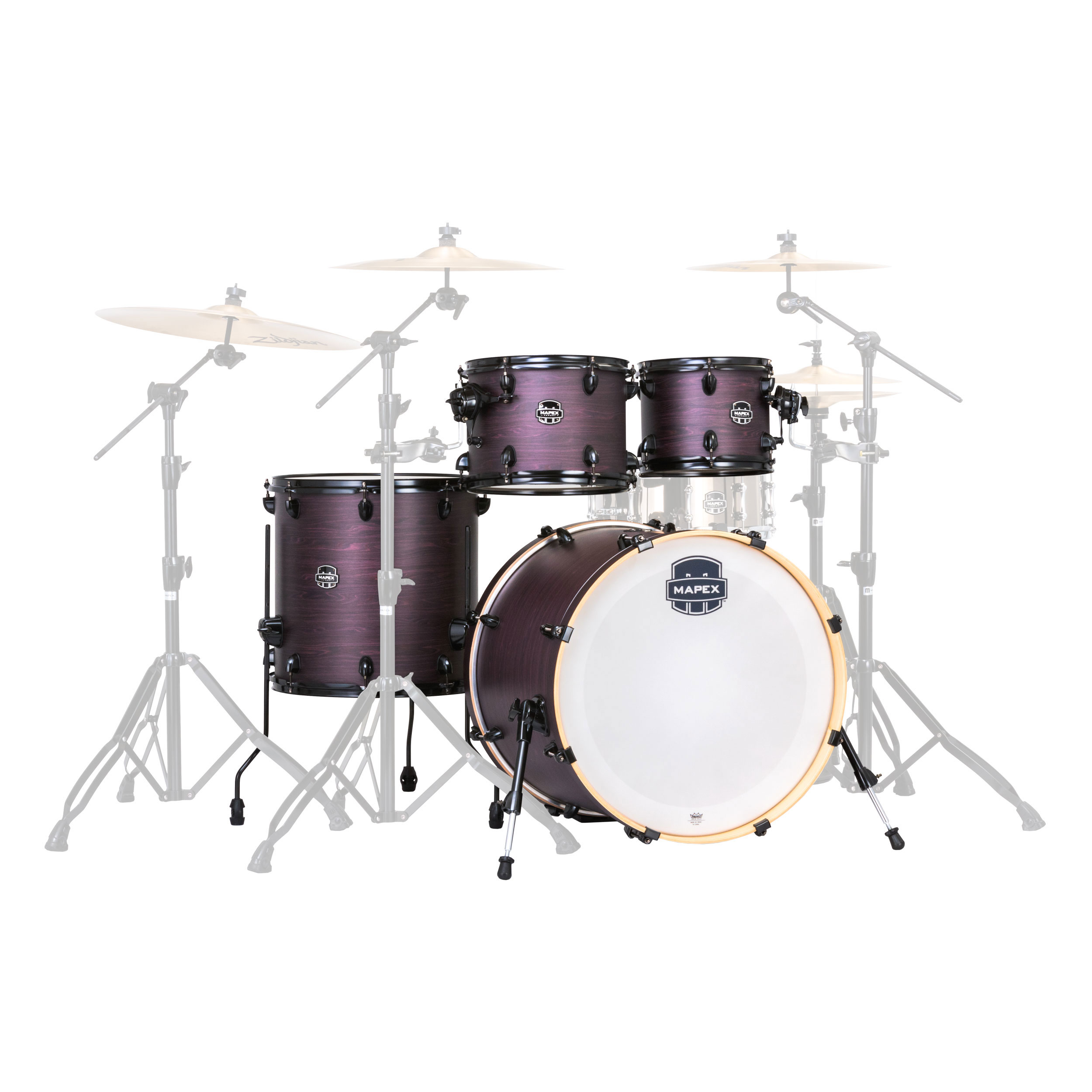 mapex armory 5 piece fusion drum set shell pack 20 bass 10 12 14 toms 14 snare ar504s. Black Bedroom Furniture Sets. Home Design Ideas