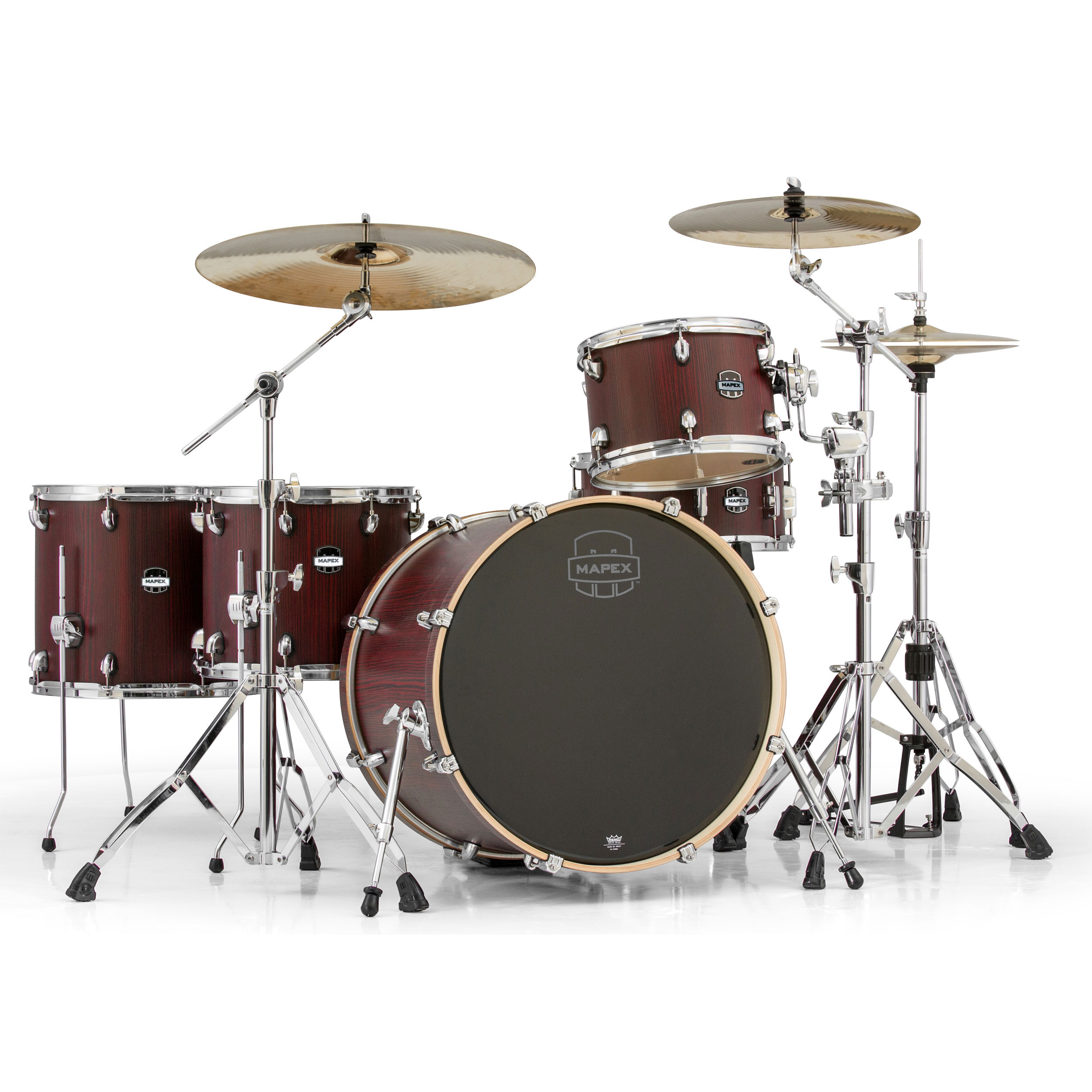 mapex mars 5 piece crossover drum set shell pack 22 bass 12 14 16 toms 14 snare ma528sf. Black Bedroom Furniture Sets. Home Design Ideas
