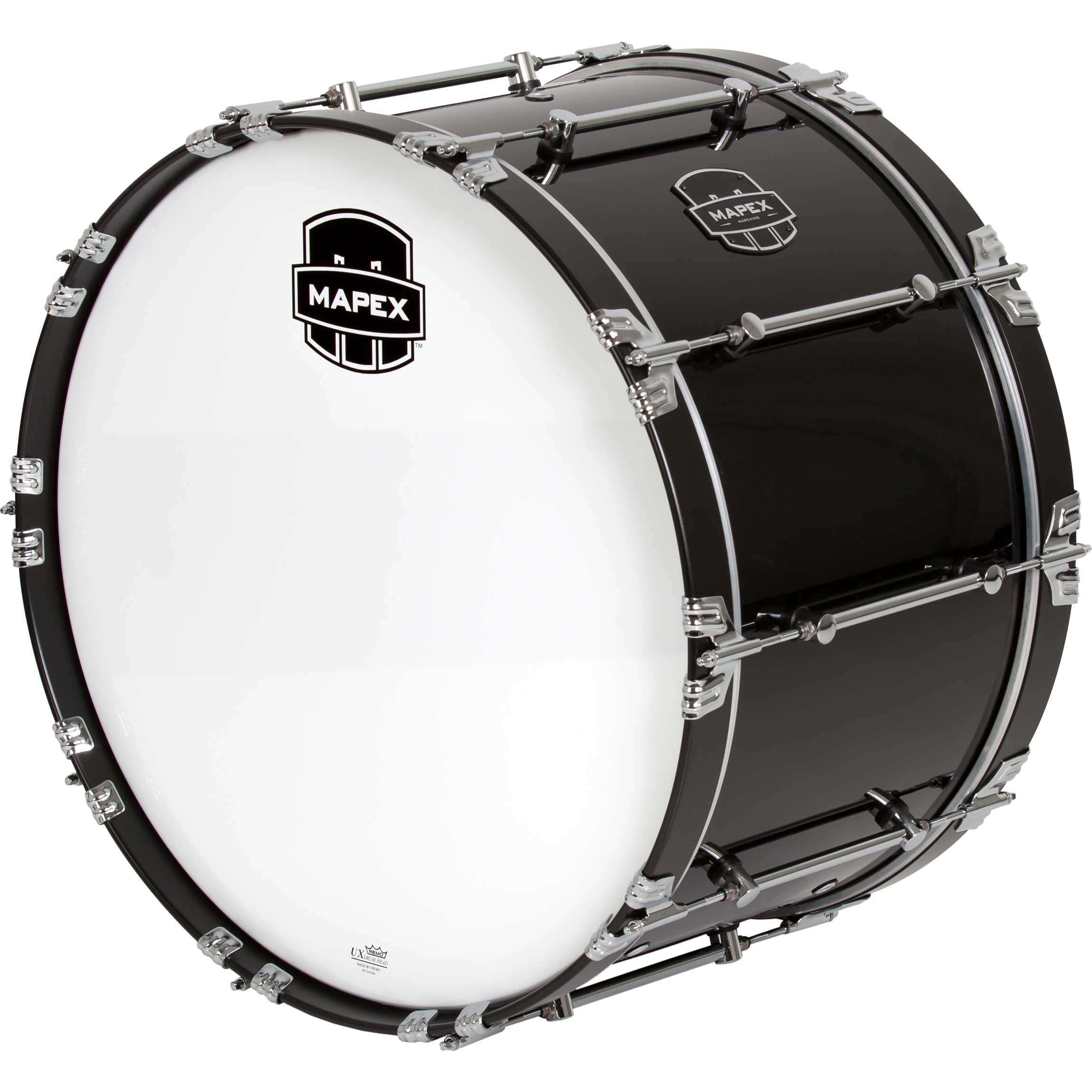 mapex 24 quantum marching bass drum in gloss black qcb2414 bl gc. Black Bedroom Furniture Sets. Home Design Ideas