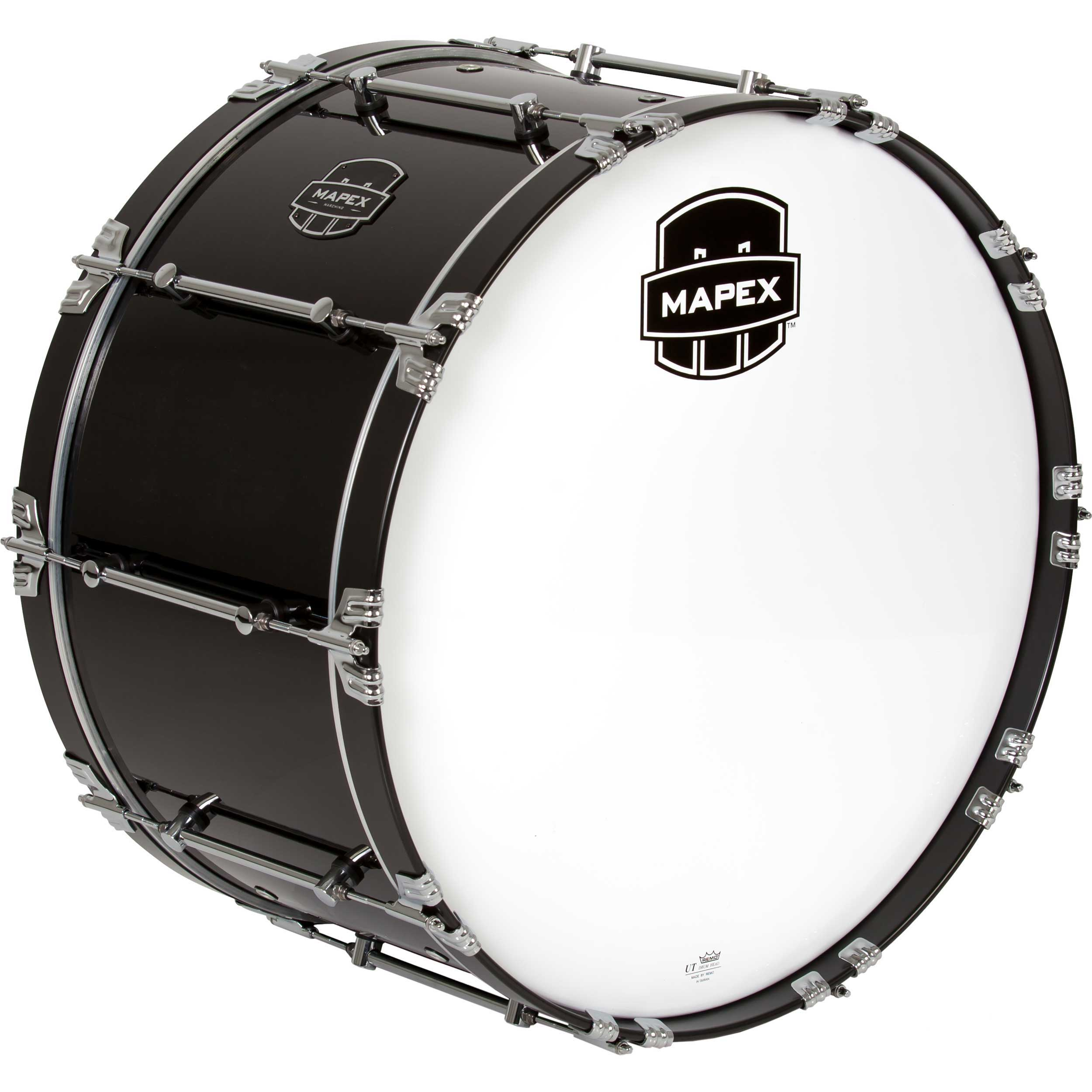 "Mapex 28"" x 14"" Quantum Marching Bass Drum in Gloss Black"