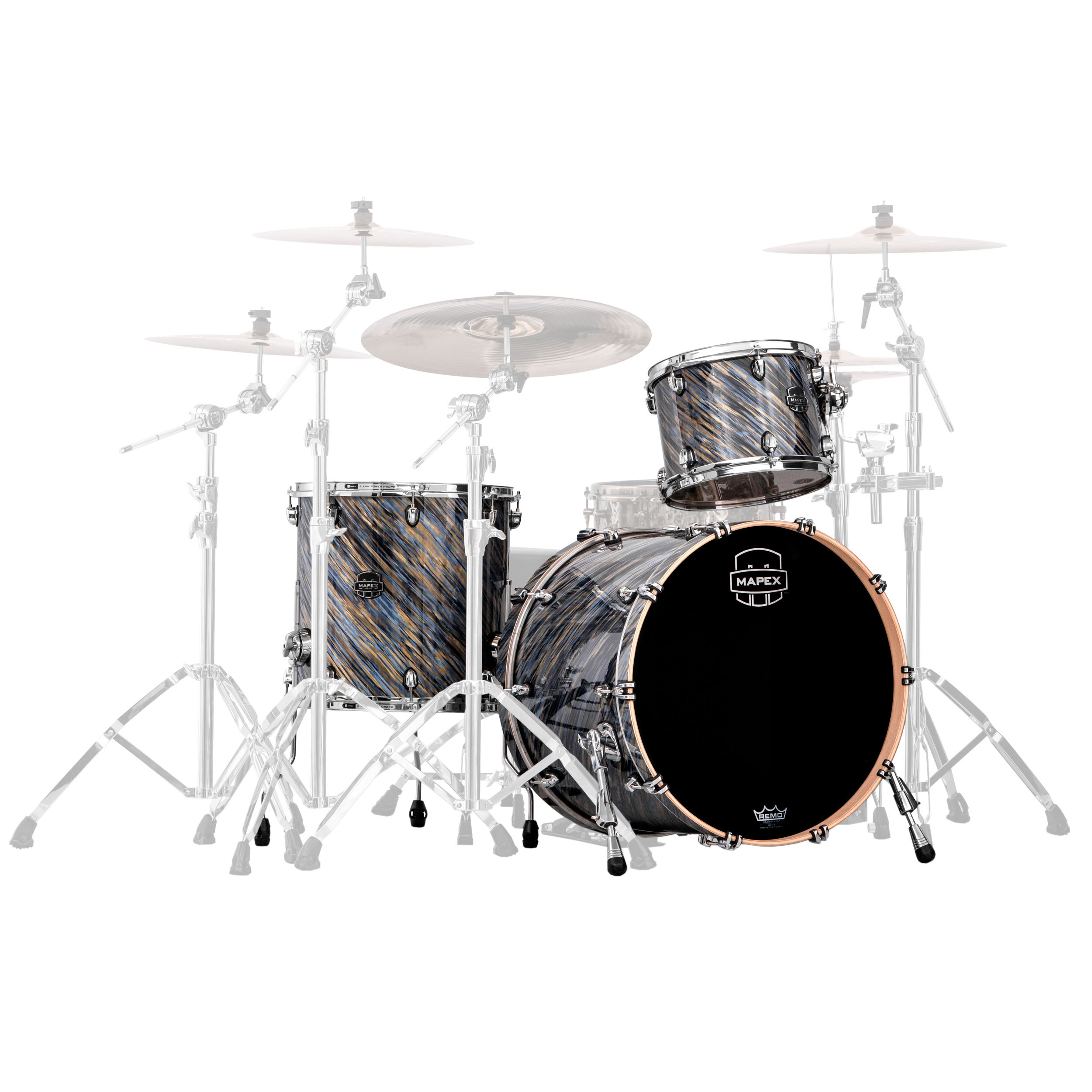 "Mapex Saturn V MH Exotic 3-Piece Rock Drum Set Shell Pack (22"" Bass, 12/16"" Toms)"
