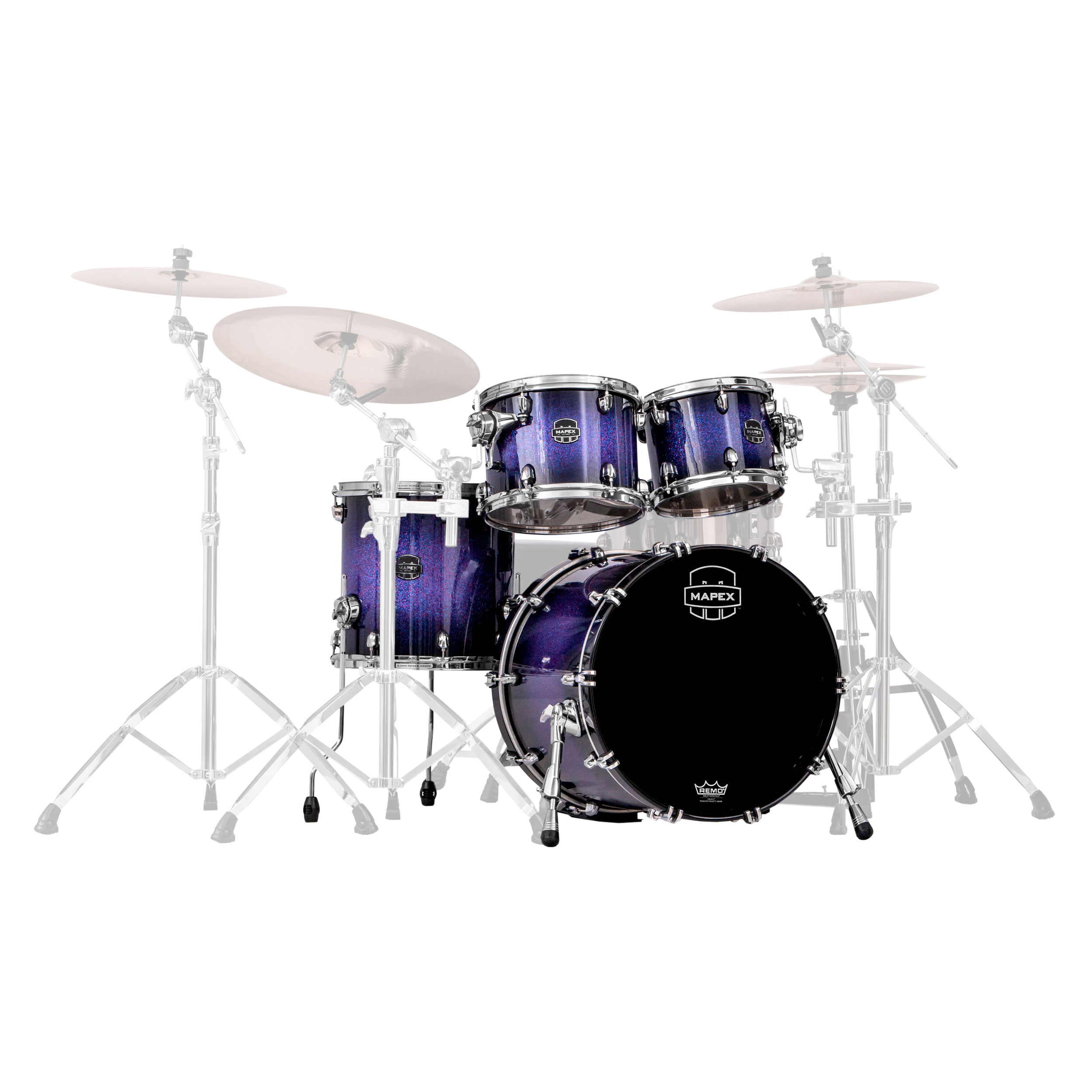 "Mapex Saturn V MH 4-Piece Fusion Drum Set Shell Pack (20"" Bass, 10/12/14"" Toms)"