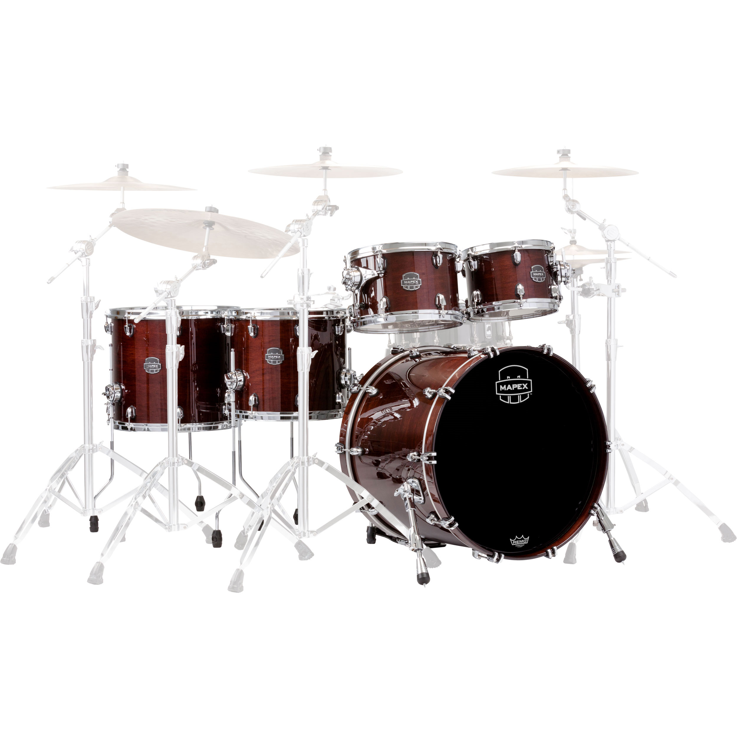 "Mapex Saturn V MH 5-Piece Studioease Drum Set Shell Pack (22"" Bass, 10/12/14/16"" Toms)"
