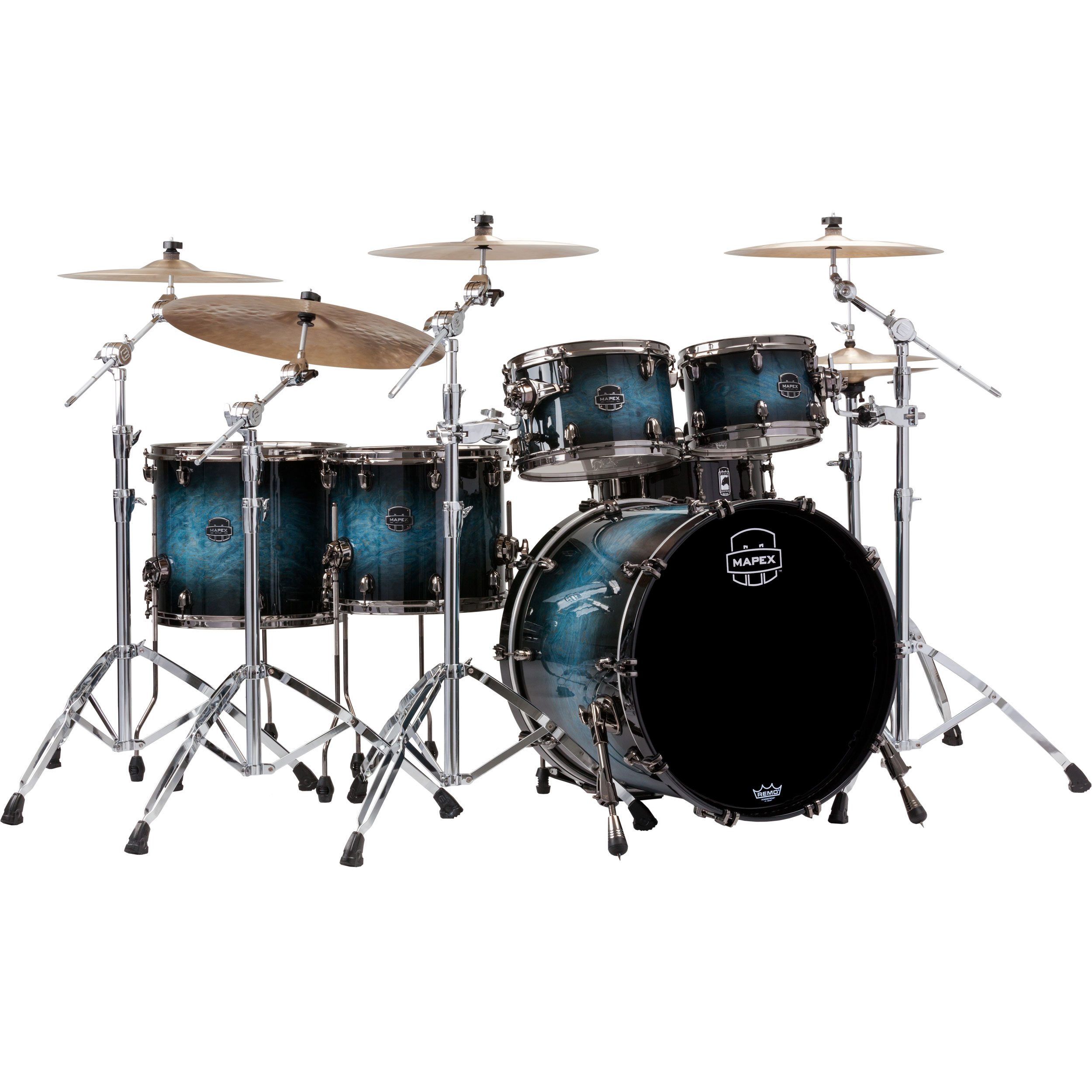 "Mapex Saturn V MH Exotic 5-Piece Studioease Drum Set Shell Pack (22"" Bass, 10/12/14/16"" Toms)"