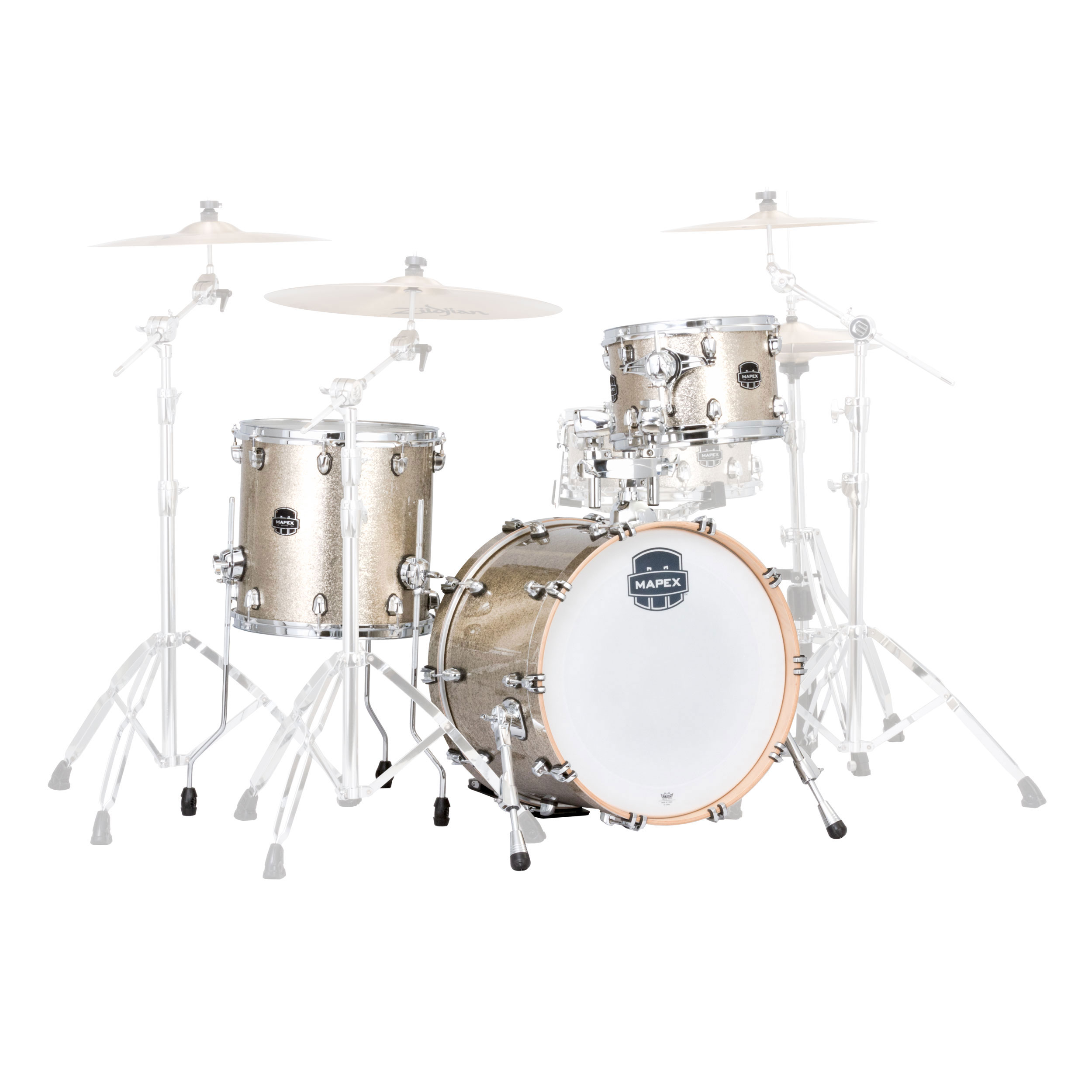 "Mapex Saturn V Tour Edition 3-Piece Drum Set Shell Pack (22"" Bass, 12/16"" Toms)"