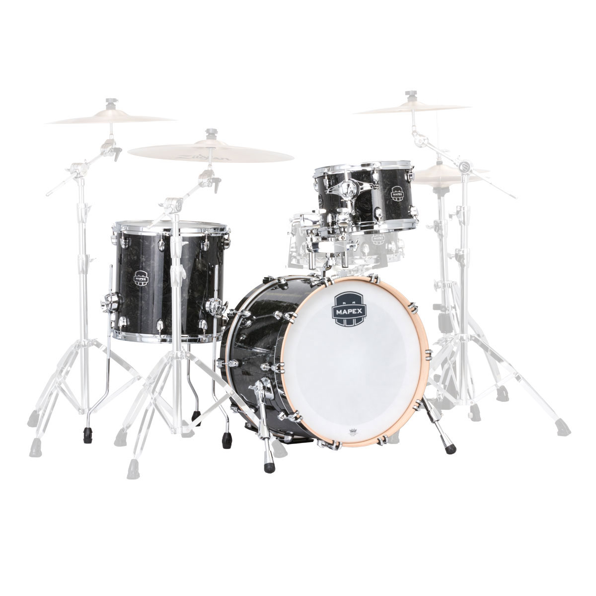 "Mapex Saturn V Tour Edition 3-Piece Drum Set Shell Pack (24"" Bass, 13/16"" Toms)"