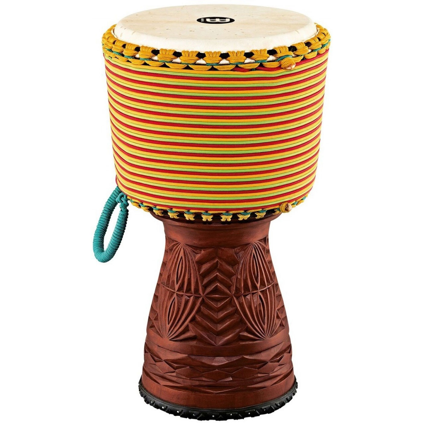 "Meinl 12"" Artisan Edition Djembe with Colored Rope Wrapping"