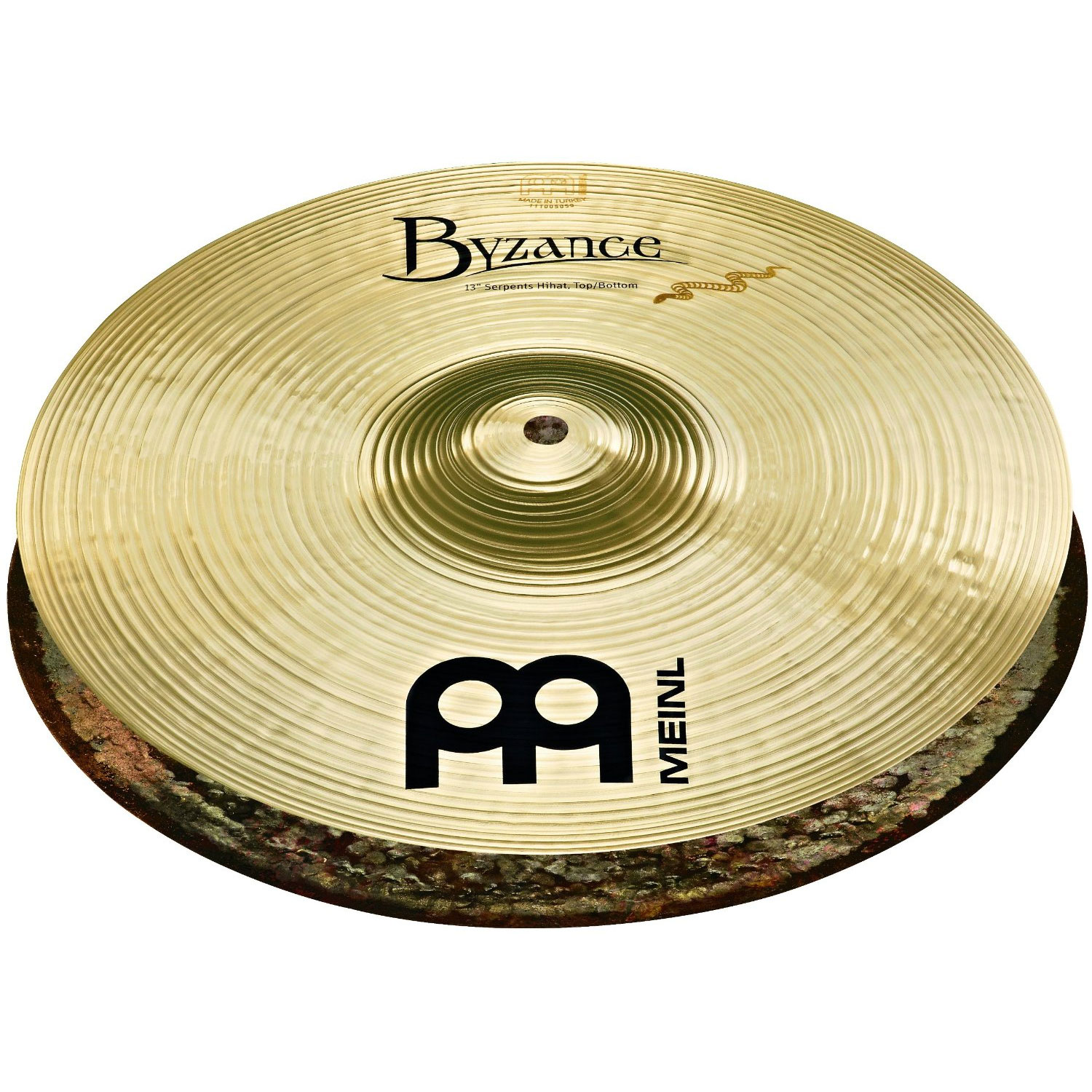 "Meinl 13"" Byzance Brilliant Serpents Hi Hat Cymbals"