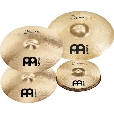 Meinl Limited Edition 4-Pc Byzance Brilliant Cymbal Box Set (Hi Hats, Crash, Ride, FREE Crash)