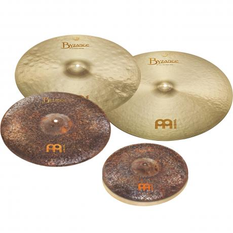 Meinl Limited Edition 4-Pc Byzance Extra Dry/Jazz Cymbal Box Set (Hi Hats, 2 Rides, FREE Crash)