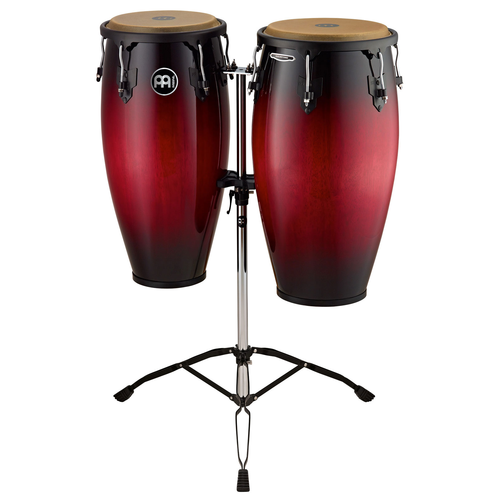 "Meinl 11"" & 12"" Headliner Series Conga Set in Wine Red Burst with Stand"