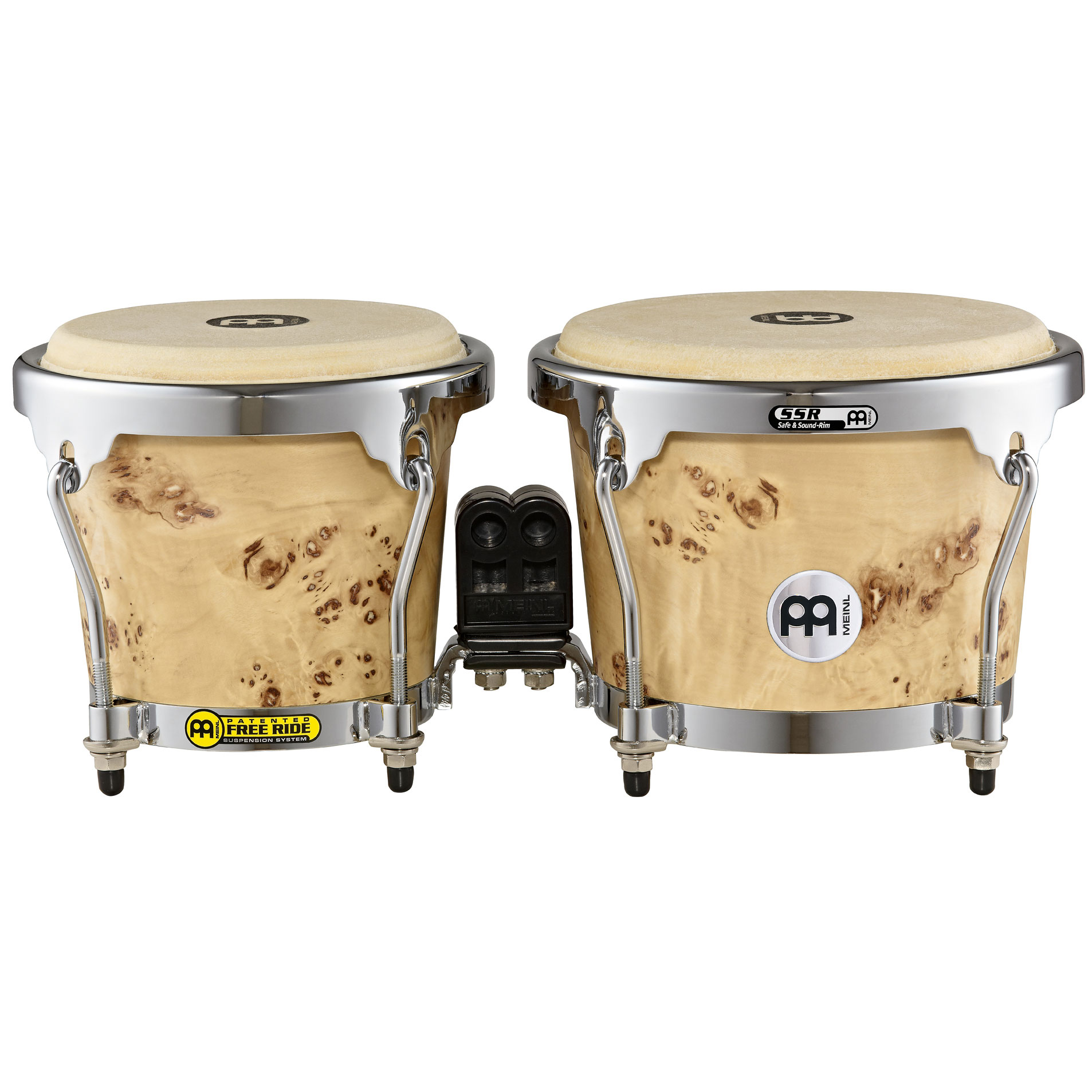 "Meinl 6.75"" & 8"" Radial Ply Construction (RAPC) Wood Bongos in Desert Burl"