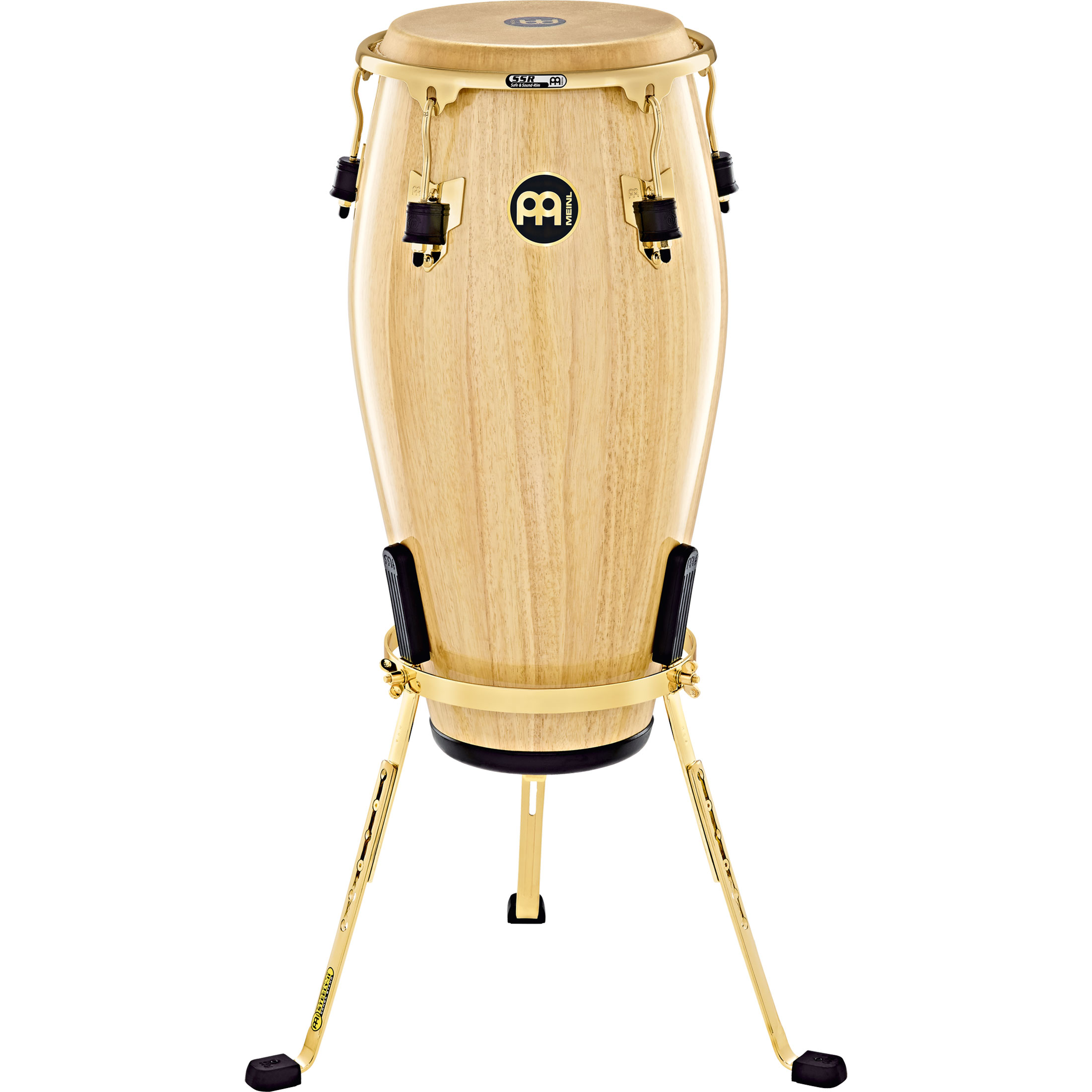 "Meinl 11"" Marathon Exclusive Quinto Conga in Natural with Gold Hardware"