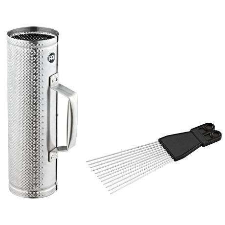 Meinl Small Brushed Steel Merengue Guira with Scraper