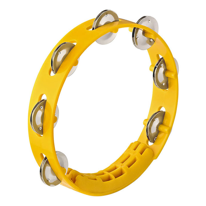 "Meinl Nino 8"" Compact ABS Tambourine in Yellow"