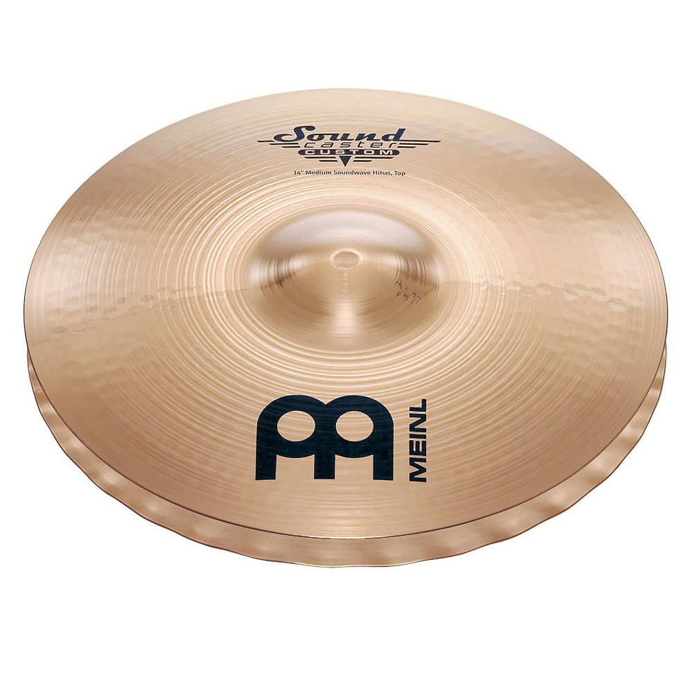 "Meinl 14"" Soundcaster Custom Medium Soundwave Hi Hat Cymbals"