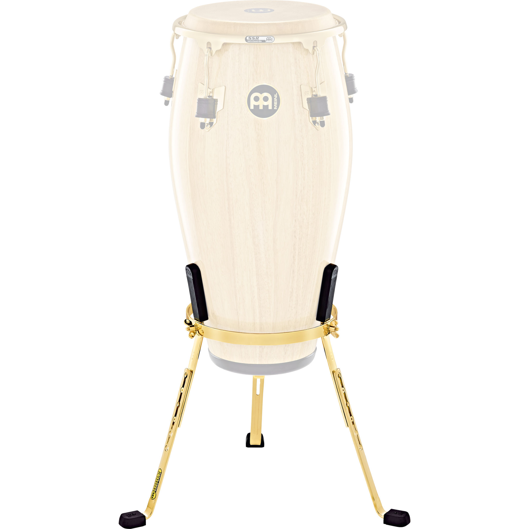 "Meinl 12.5"" Marathon Exclusive Steely II Tumba Conga Stand in Gold"