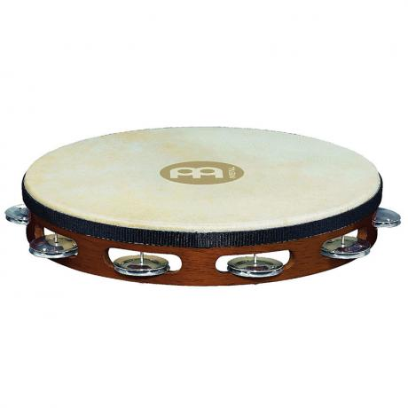 Meinl Wood Single Row Aluminum Tambourine (Natural Head)