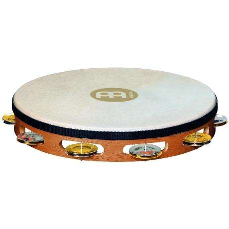 Meinl Recording-Combo Single Row Steel & Brass Tambourine (Natural Head)