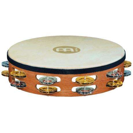 Meinl Recording-Combo Double Row Steel & Brass Tambourine (Synthetic Head)