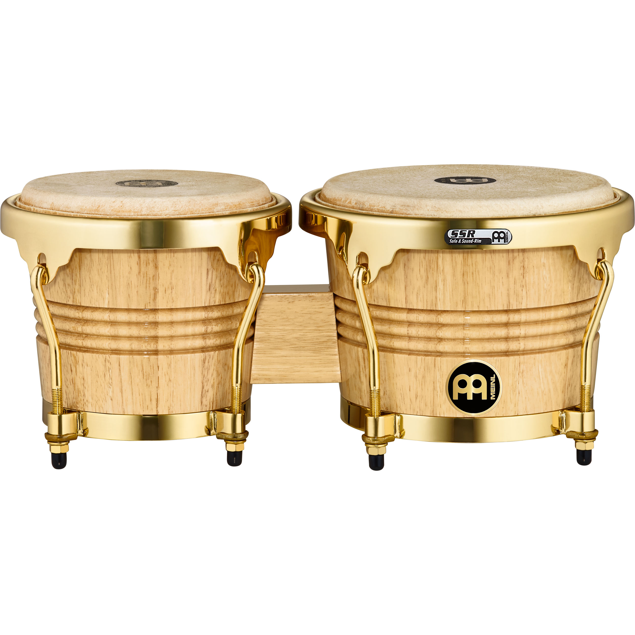 "Meinl 6.75"" & 8"" Wood Bongos with Gold Hardware"
