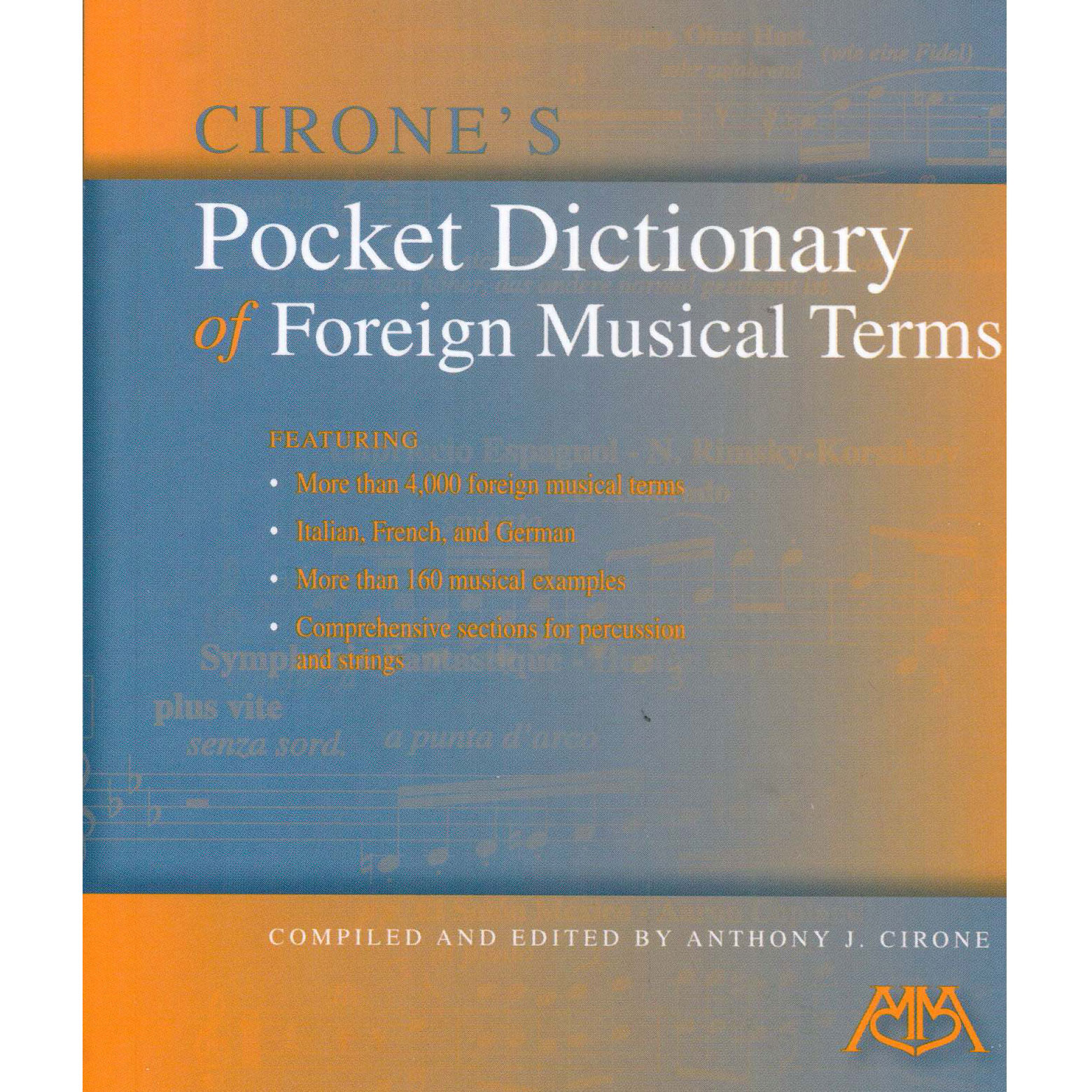Pocket Dictionary of Foreign Musical Terms by Anthony Cirone