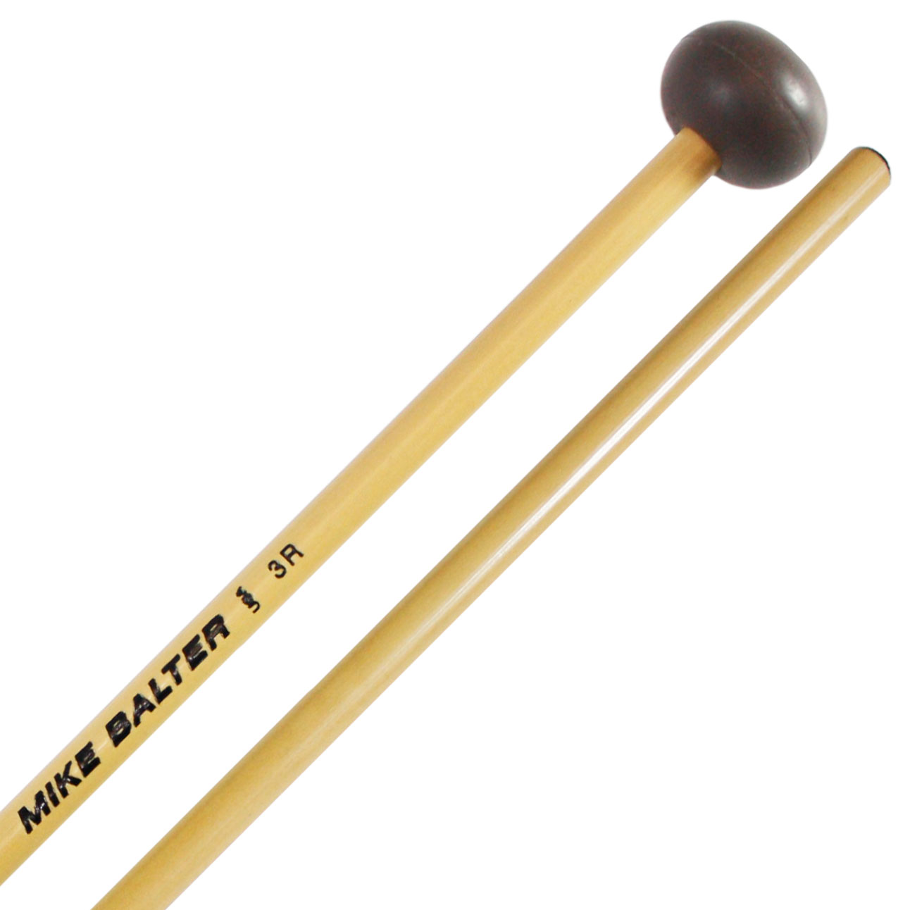 Mike Balter Unwound Medium Soft Rubber Xylophone Mallets with Rattan Handles