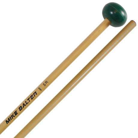 Mike Balter Unwound Medium Hard Rubber Xylophone Mallets with Rattan Handles