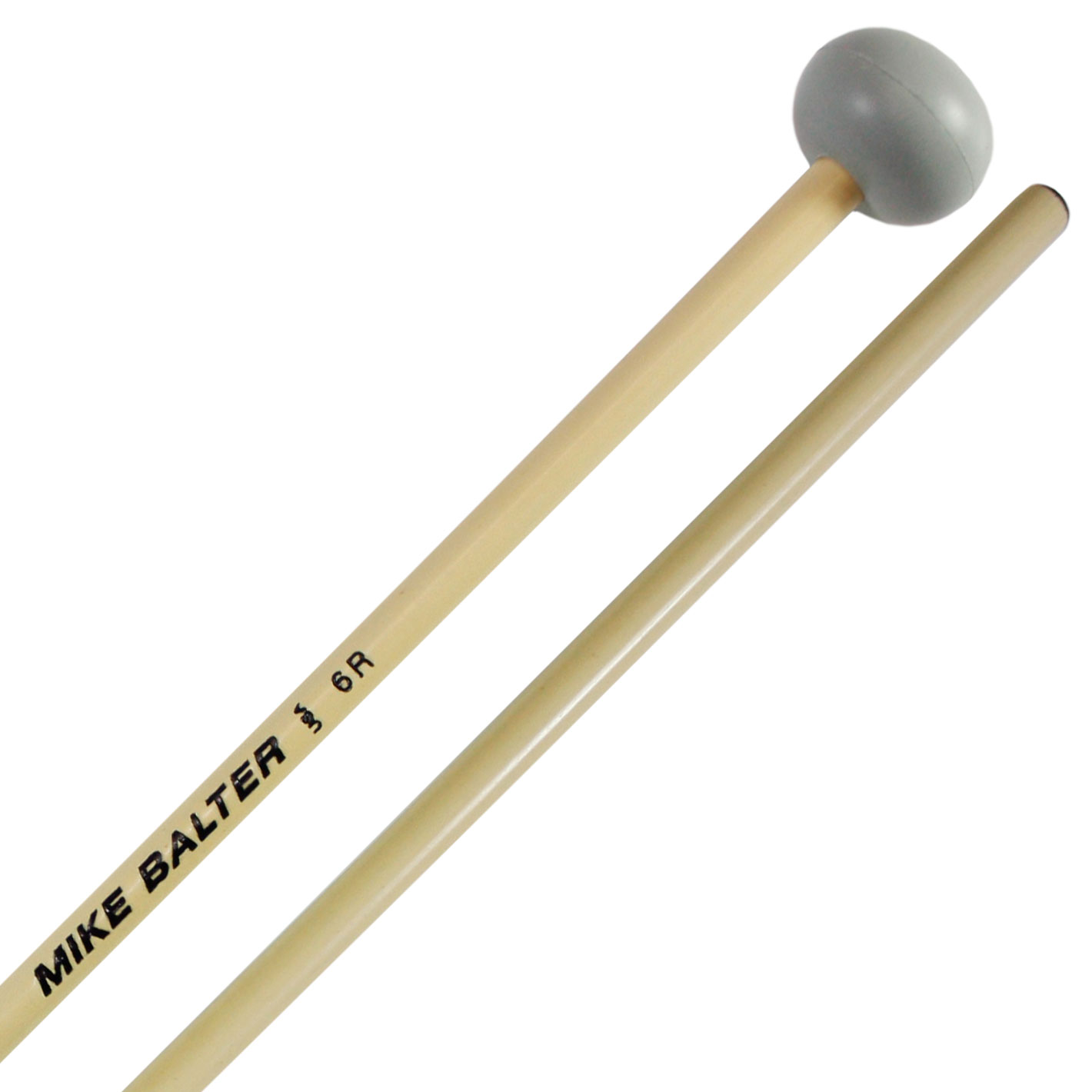 Mike Balter Unwound Hard Rubber Xylophone Mallets with Rattan Handles