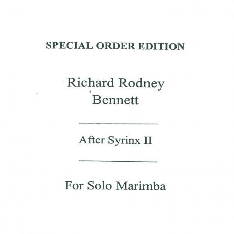After Syrinx II by Richard Rodney Bennett