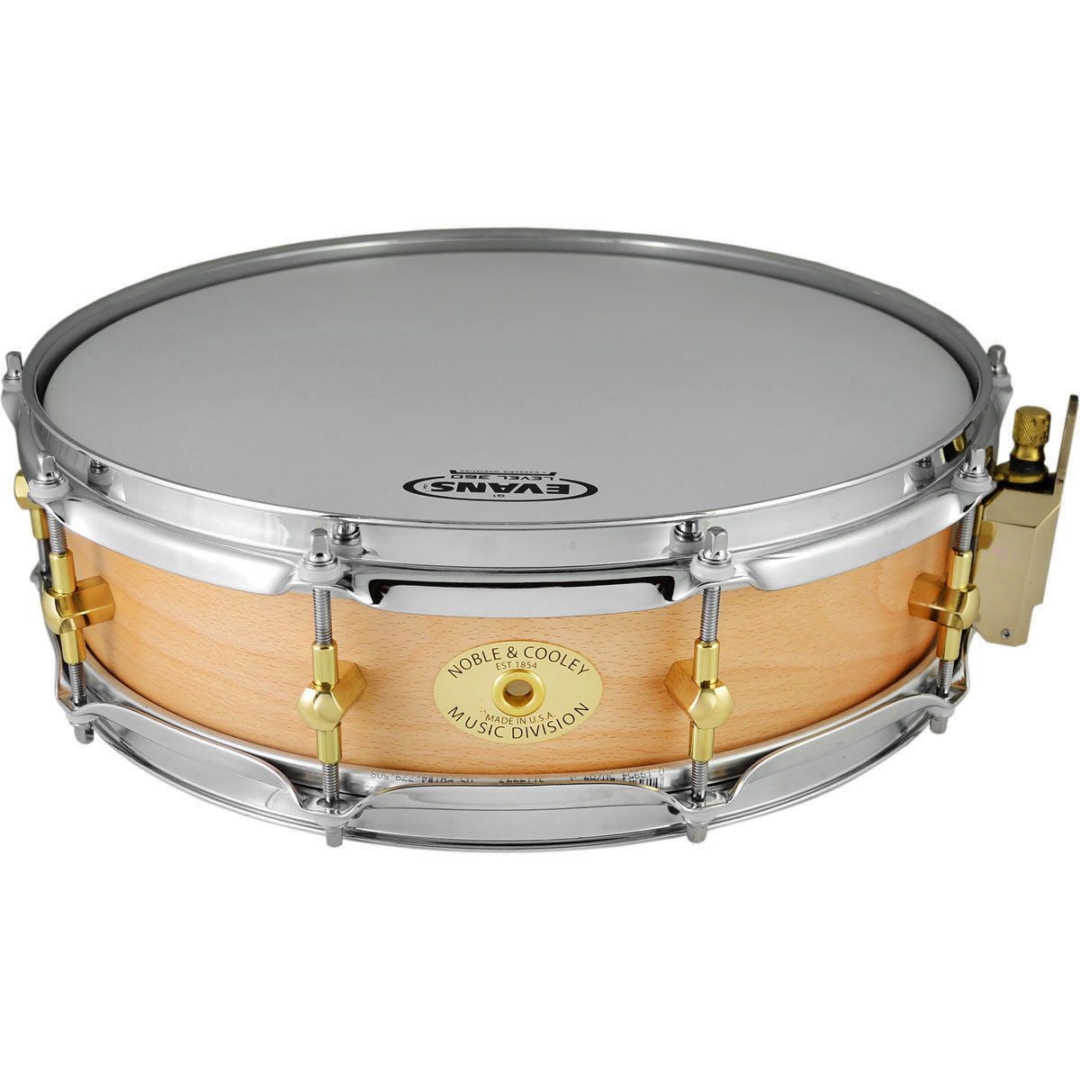 "Noble & Cooley 3 7/8"" x 14"" Classic Solid Shell Beech Piccolo Snare Drum in Clear Oil"