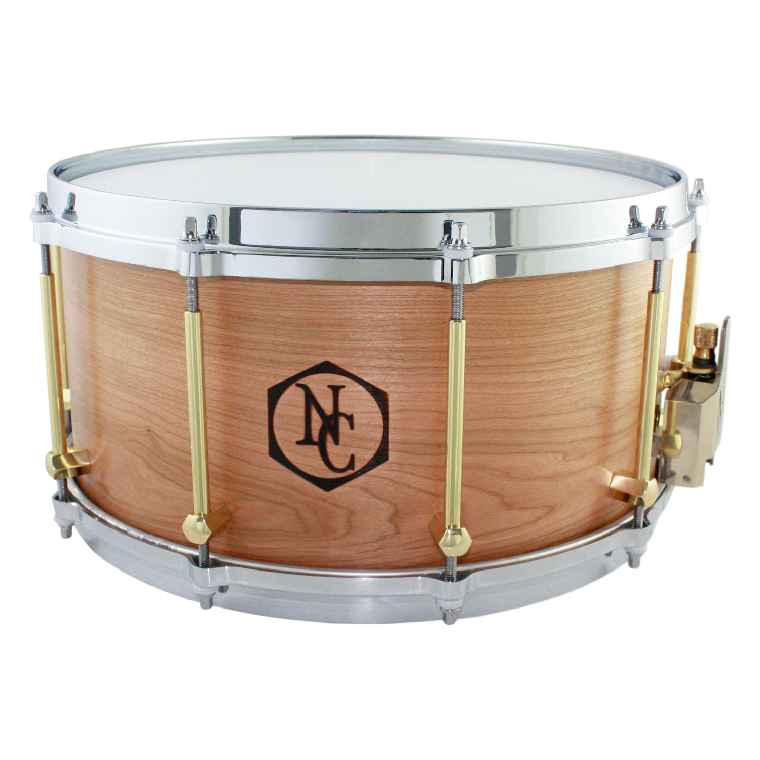 "Noble & Cooley 7"" x 14"" Classic Solid Shell Cherry Snare Drum"