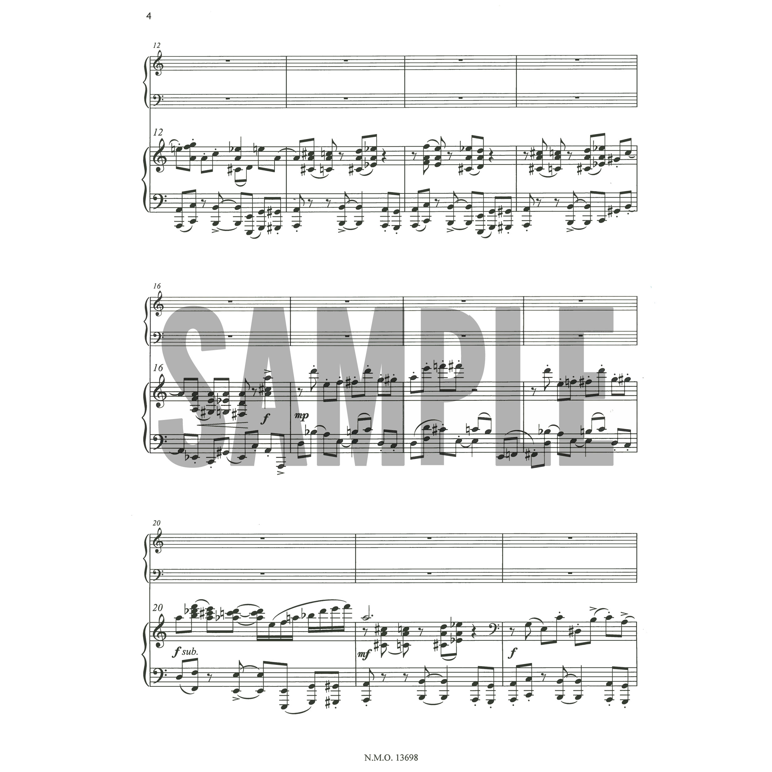 Concerto No 1 for Marimba and Orchestra (Piano Reduction) by Anders Koppel