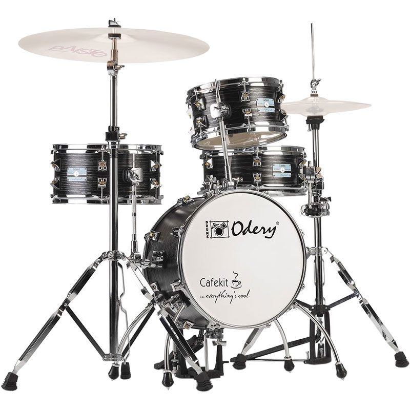 odery drums 4 piece cafekit drum set with hardware 14 bass 10 12 toms 12 snare ircafe kit. Black Bedroom Furniture Sets. Home Design Ideas