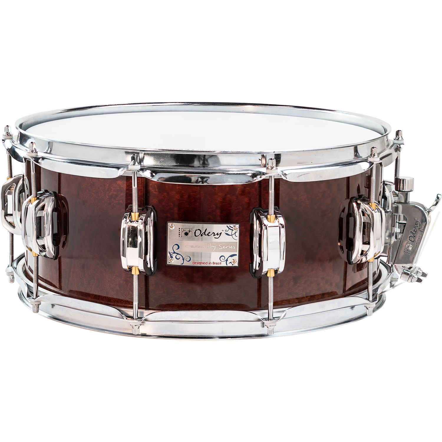 "Odery Drums 14"" x 6"" Eyedentity Series Sapele Snare Drum in Explosion"