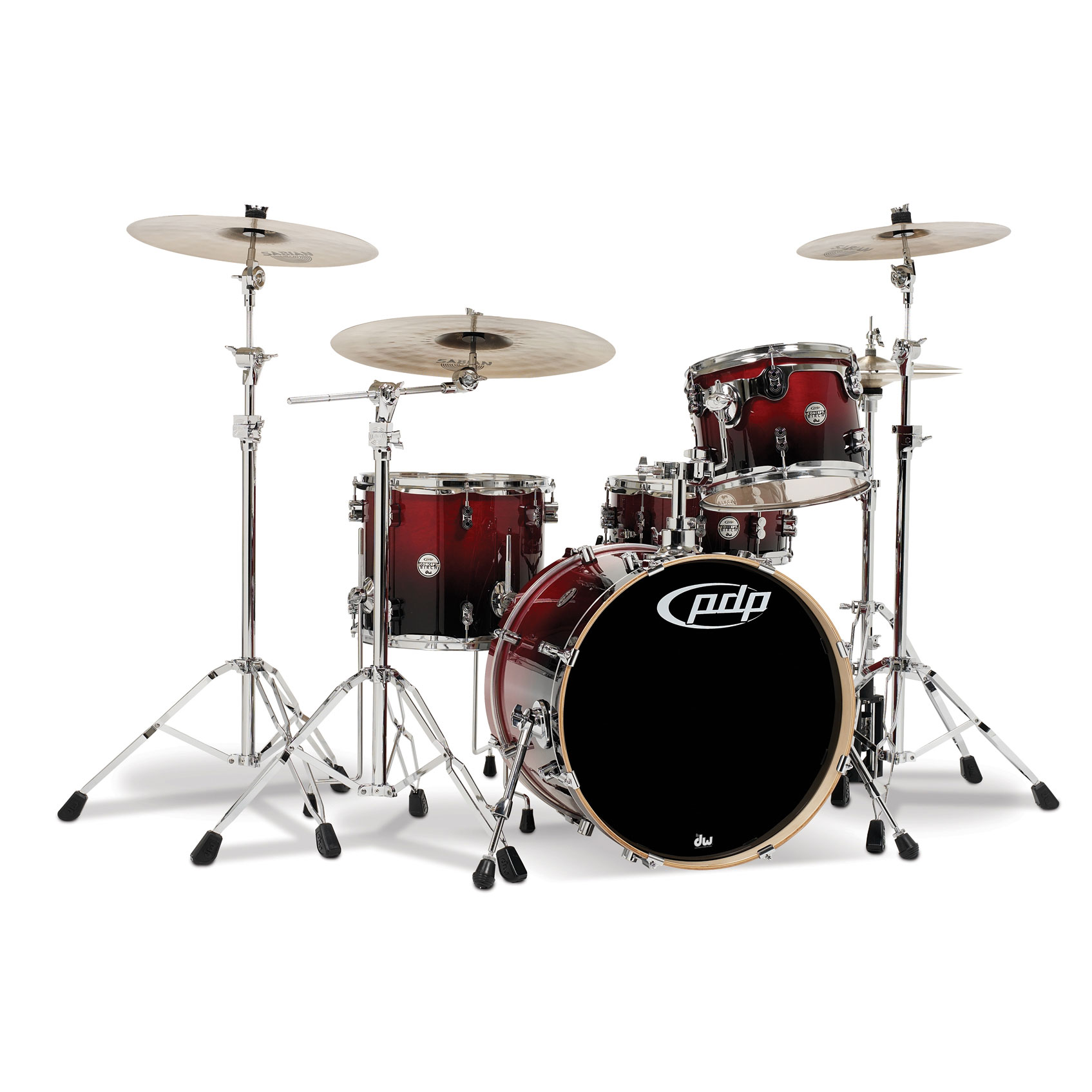 "PDP CB4 Concept Birch 4-Piece Drum Set Shell Pack (20"" Bass, 12/14"" Toms, 14"" Snare)"