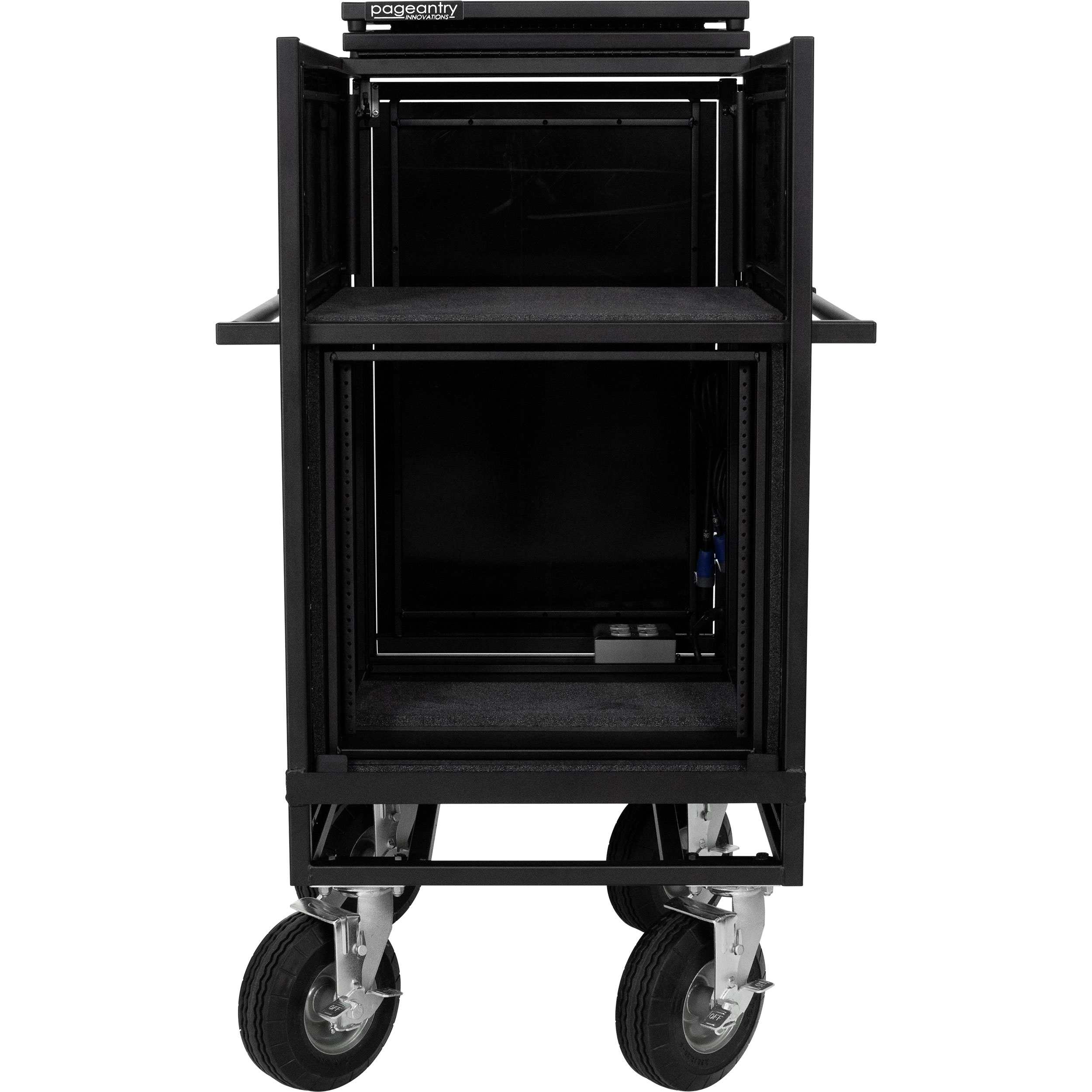 Pageantry Innovations Stealth Series Single Mixer Cart with Bi-Fold Top Cover