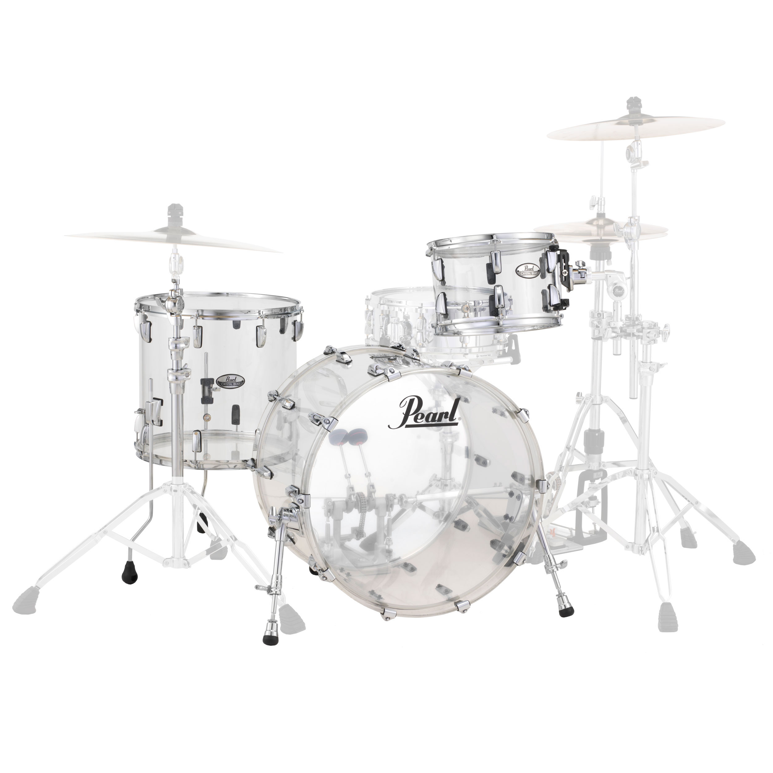 "Pearl Crystal Beat ""One Up One Down"" Acrylic 3-Piece Drum Set Shell Pack (20"" Bass, 12/14"" Toms)"