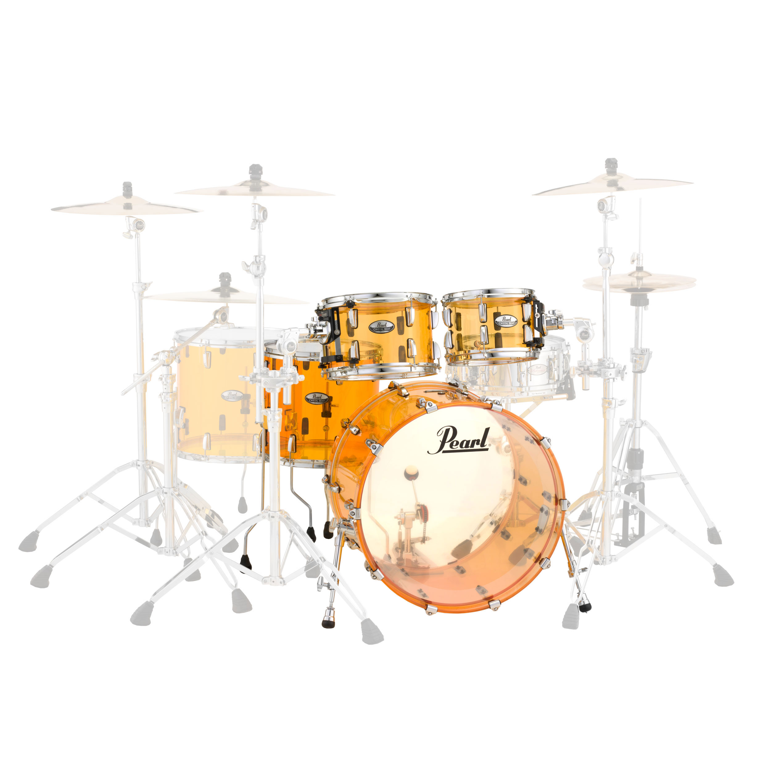 Pearl Crystal Beat Review : pearl crystal beat 39 the standard 39 acrylic 4 piece drum set shell pack 22 bass 10 12 16 toms ~ Russianpoet.info Haus und Dekorationen