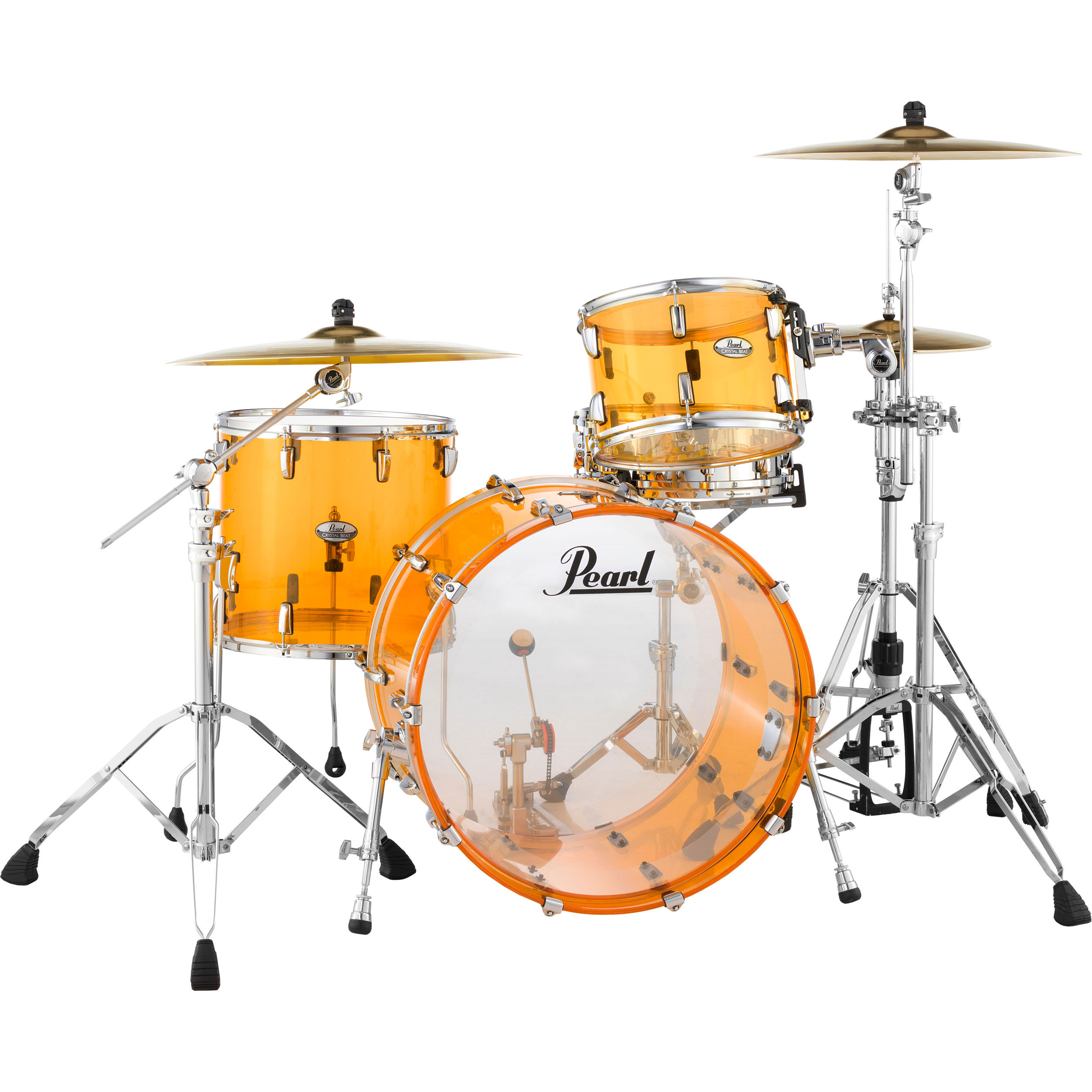 "Pearl Crystal Beat ""One Up One Down"" Acrylic 3-Piece Drum Set Shell Pack (24"" Bass, 13/16"" Toms)"
