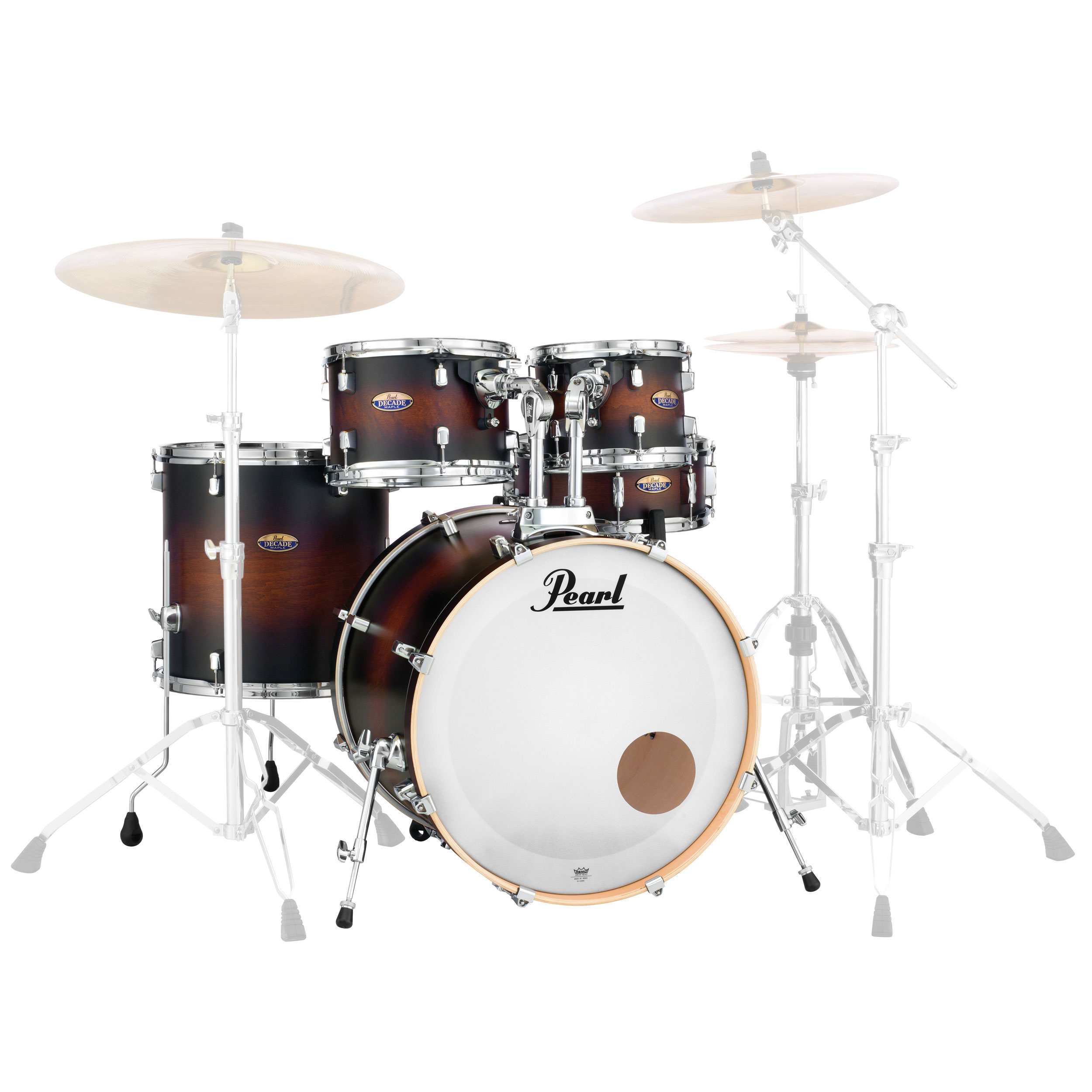 "Pearl Decade Maple 5-Piece Drum Set Shell Pack (22"" Bass, 10/12/16"" Toms, 14"" Snare) in Lacquer Finish"