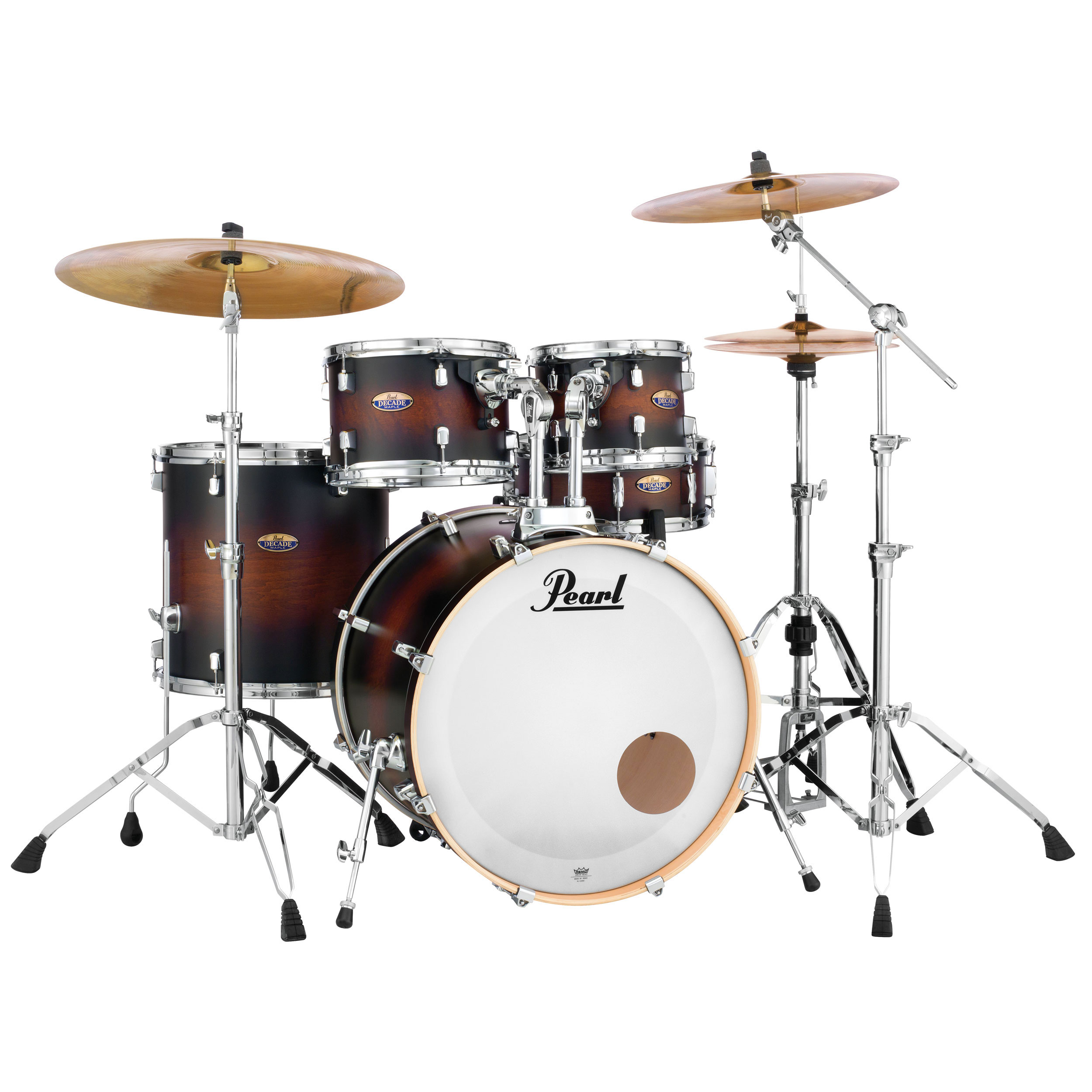 pearl decade maple 5 piece drum set shell pack 20 bass 10 12 14 toms 14 snare dmp905p c. Black Bedroom Furniture Sets. Home Design Ideas