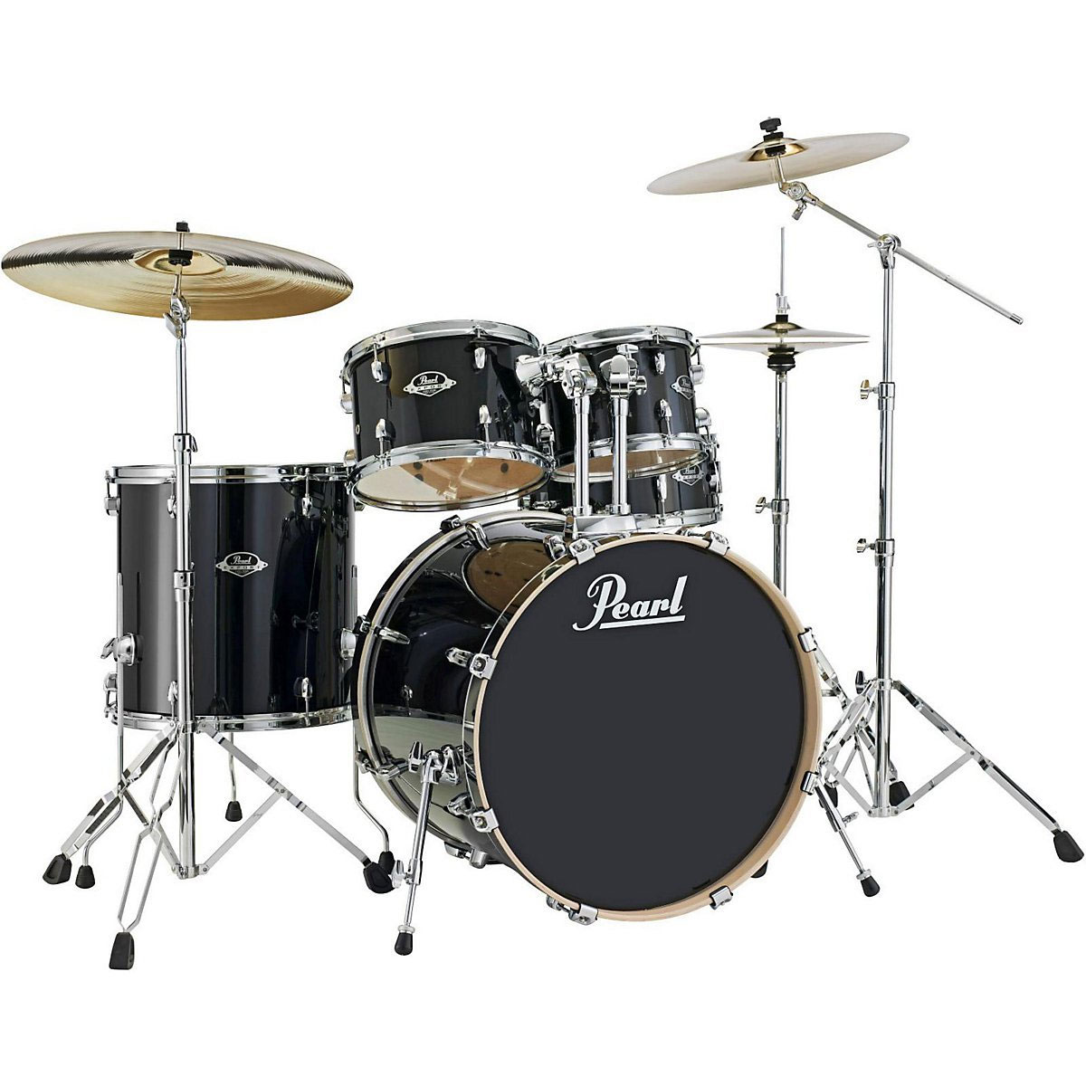 pearl exl export lacquer 5 piece drum set with hardware 20 bass 10 12 14 toms 14 snare. Black Bedroom Furniture Sets. Home Design Ideas