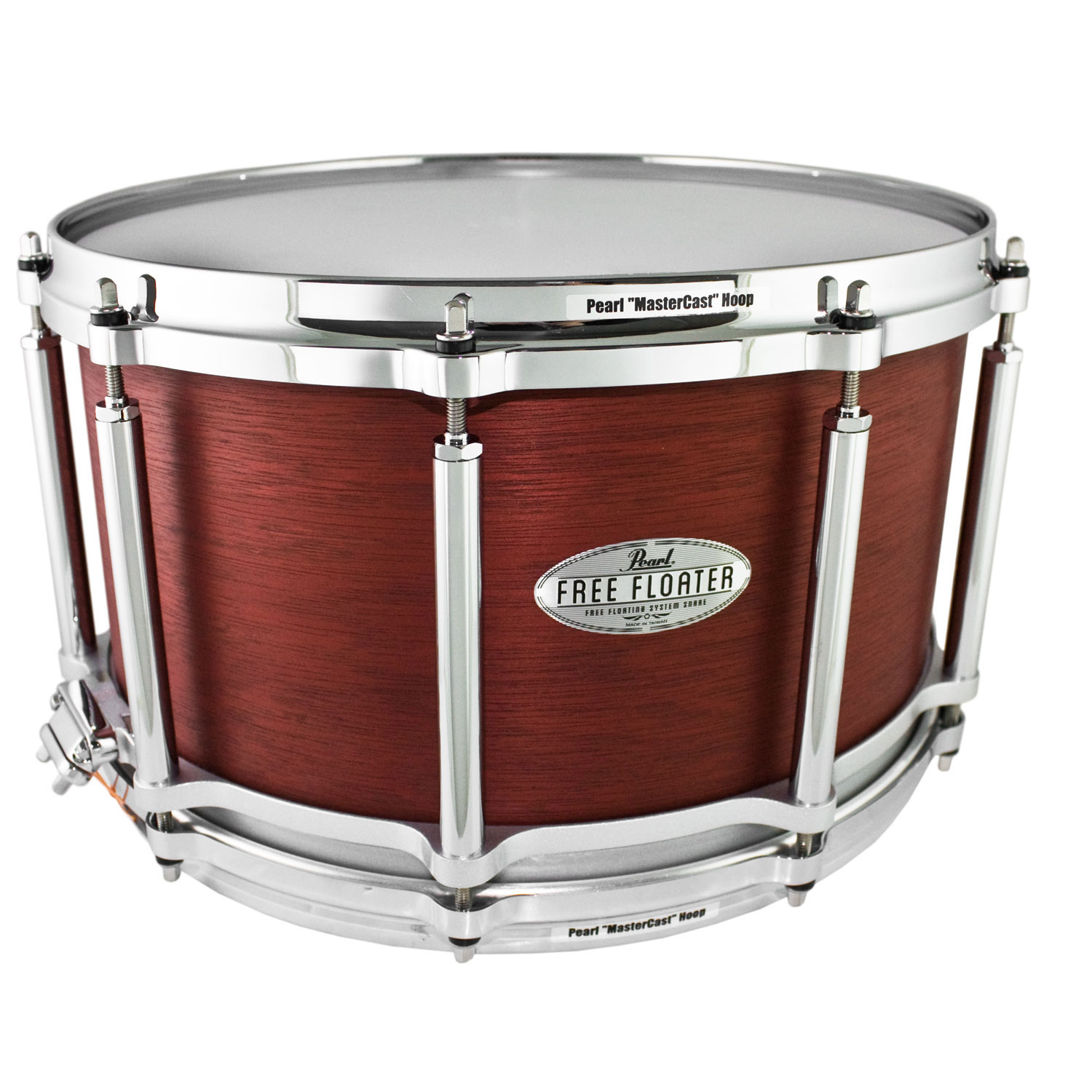 """Pearl 14"""" x 8"""" Task-Specific Free Floating African Mahogany Snare Drum"""